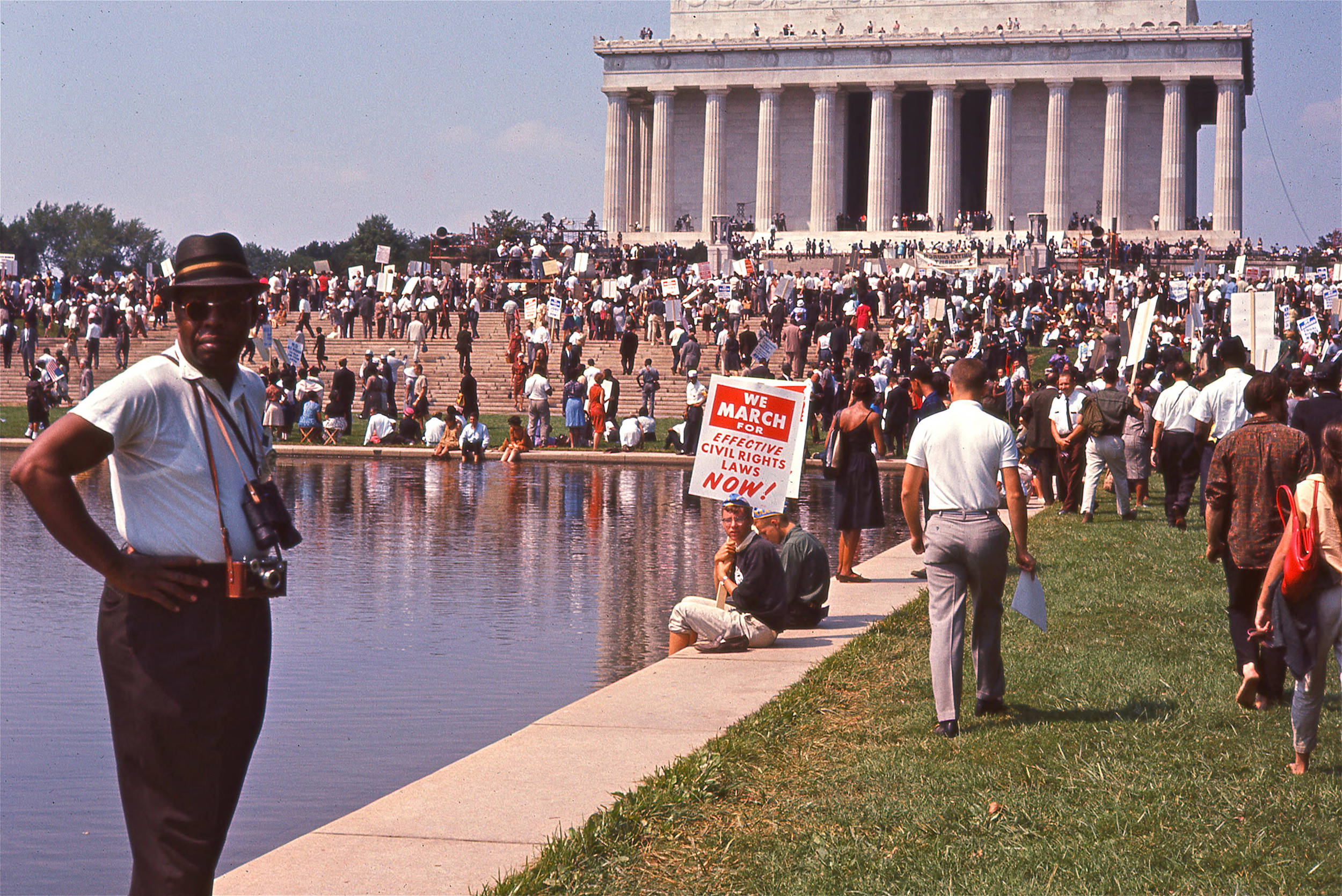 Crowds gather at the Lincoln Memorial for the March on Washington, 1963. Photo courtesy of Magnolia Pictures.