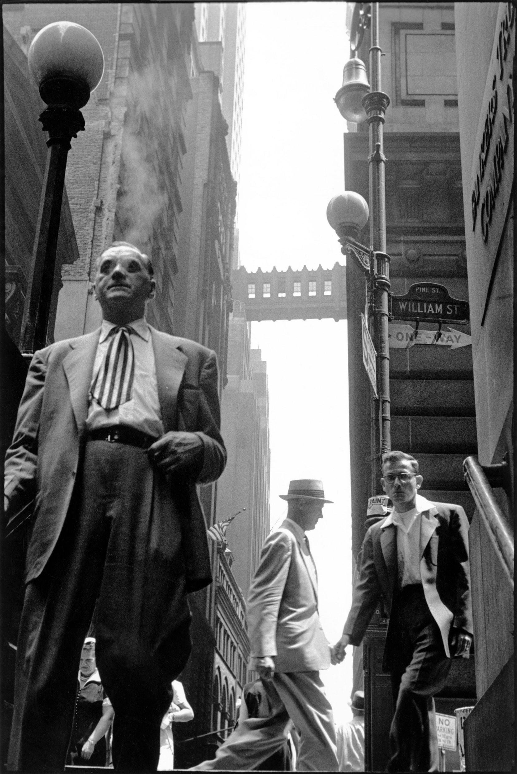 USA. New York City. 1956. Wall Street. Photo by Leonard Freed.