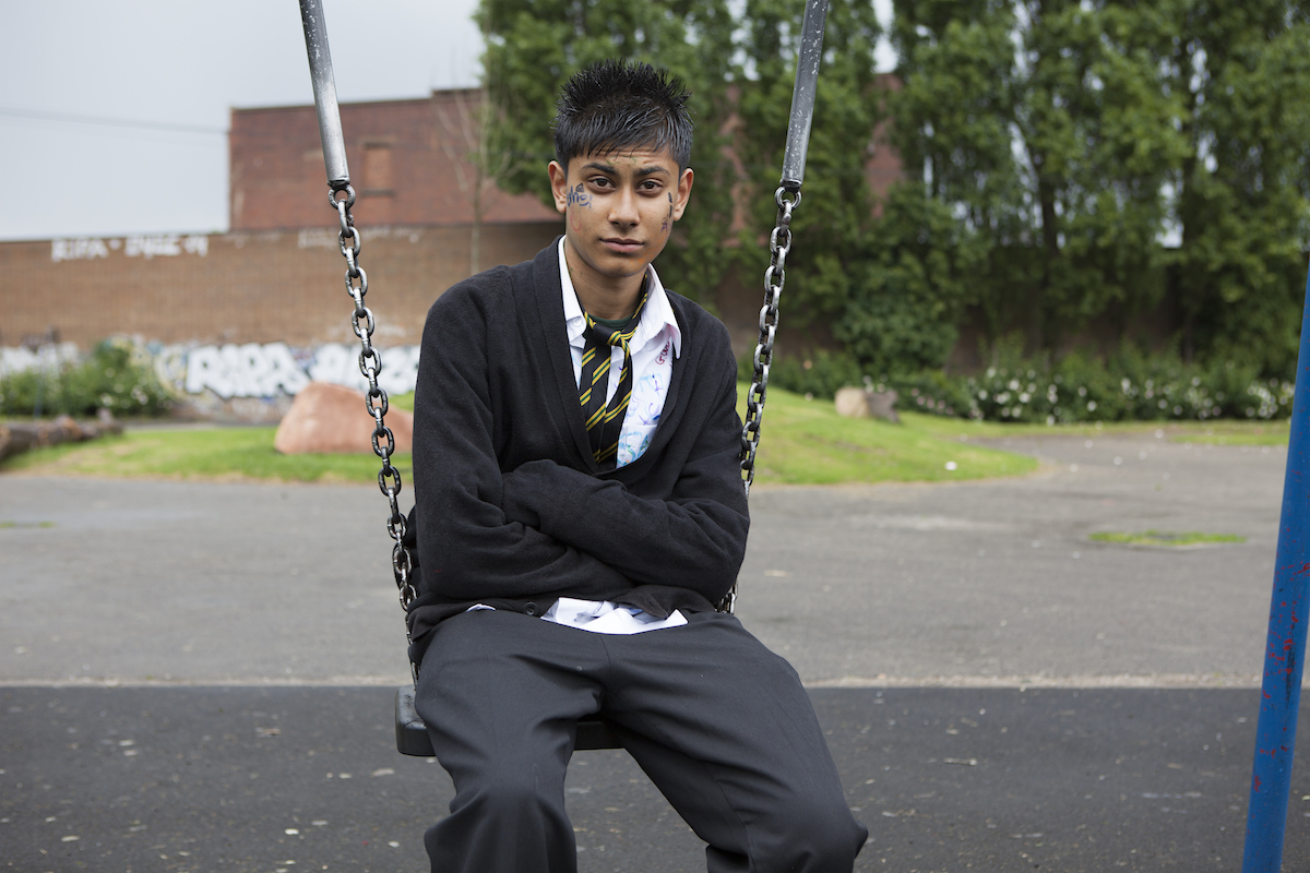 Teenager, swing and last day at school © Mahtab Hussain - You Get Me_