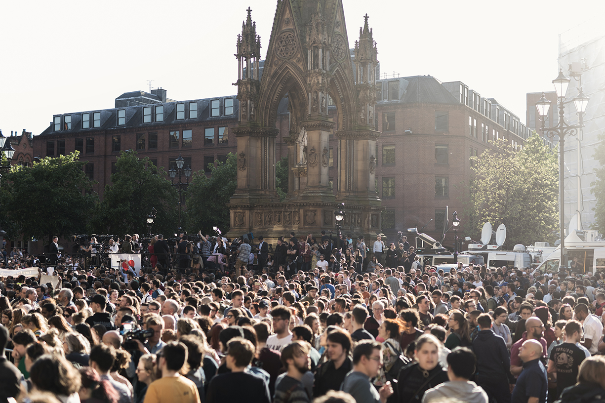 A vigil in Manchester this week