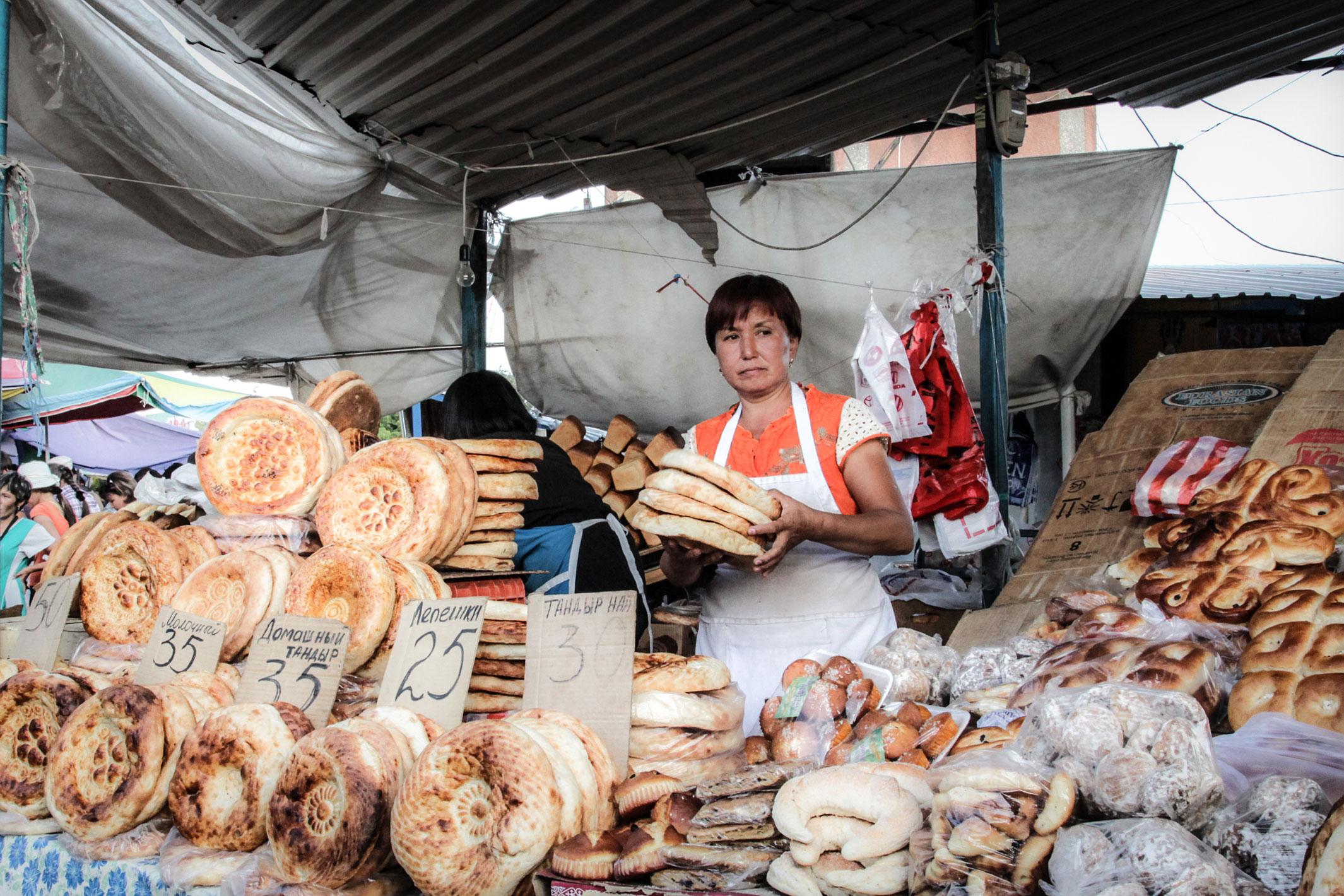 Bread-market, Shymkent, Kazakhstan.