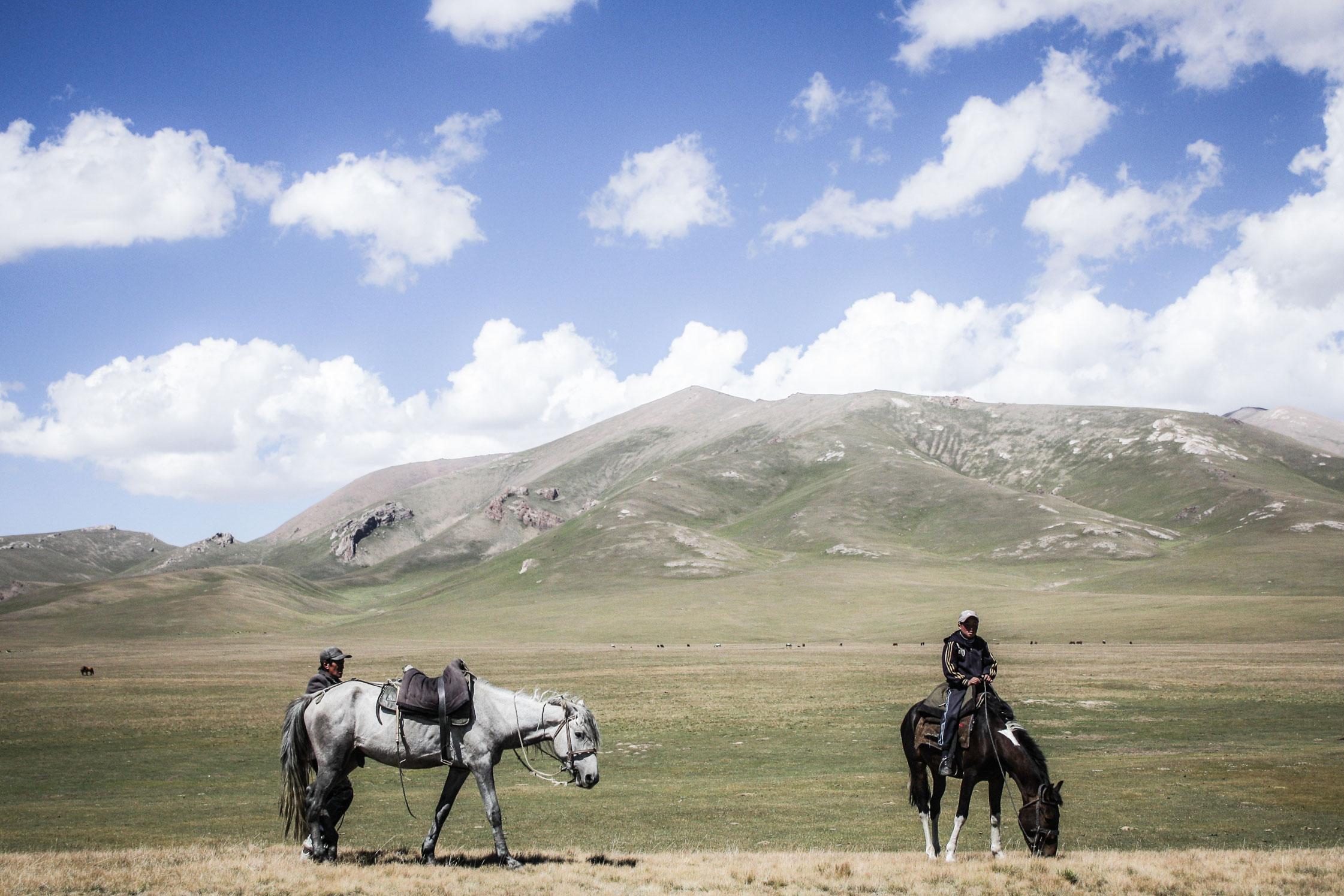 Nomadic herders, Song-Kol, Kyrgyzstan.