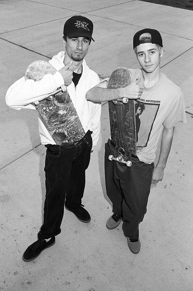 Greg Carroll and younger brother Mike, San Francisco, 1992. Photo by Bryce Kanights.