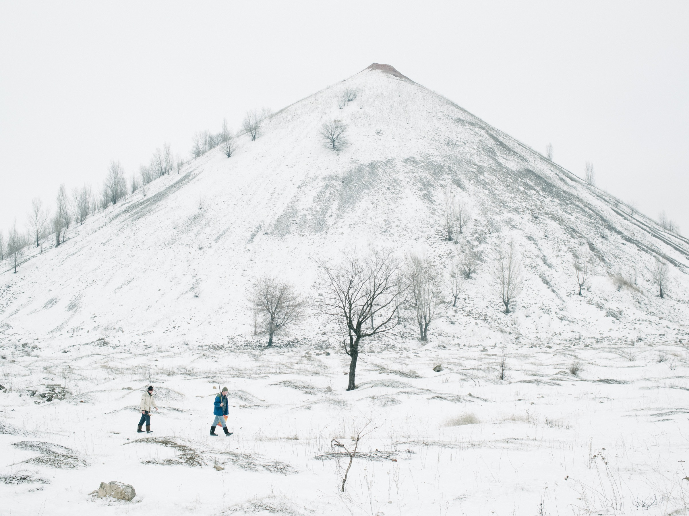 One of the many slag heaps that are dotted around Dzerzhynsk, January 2016