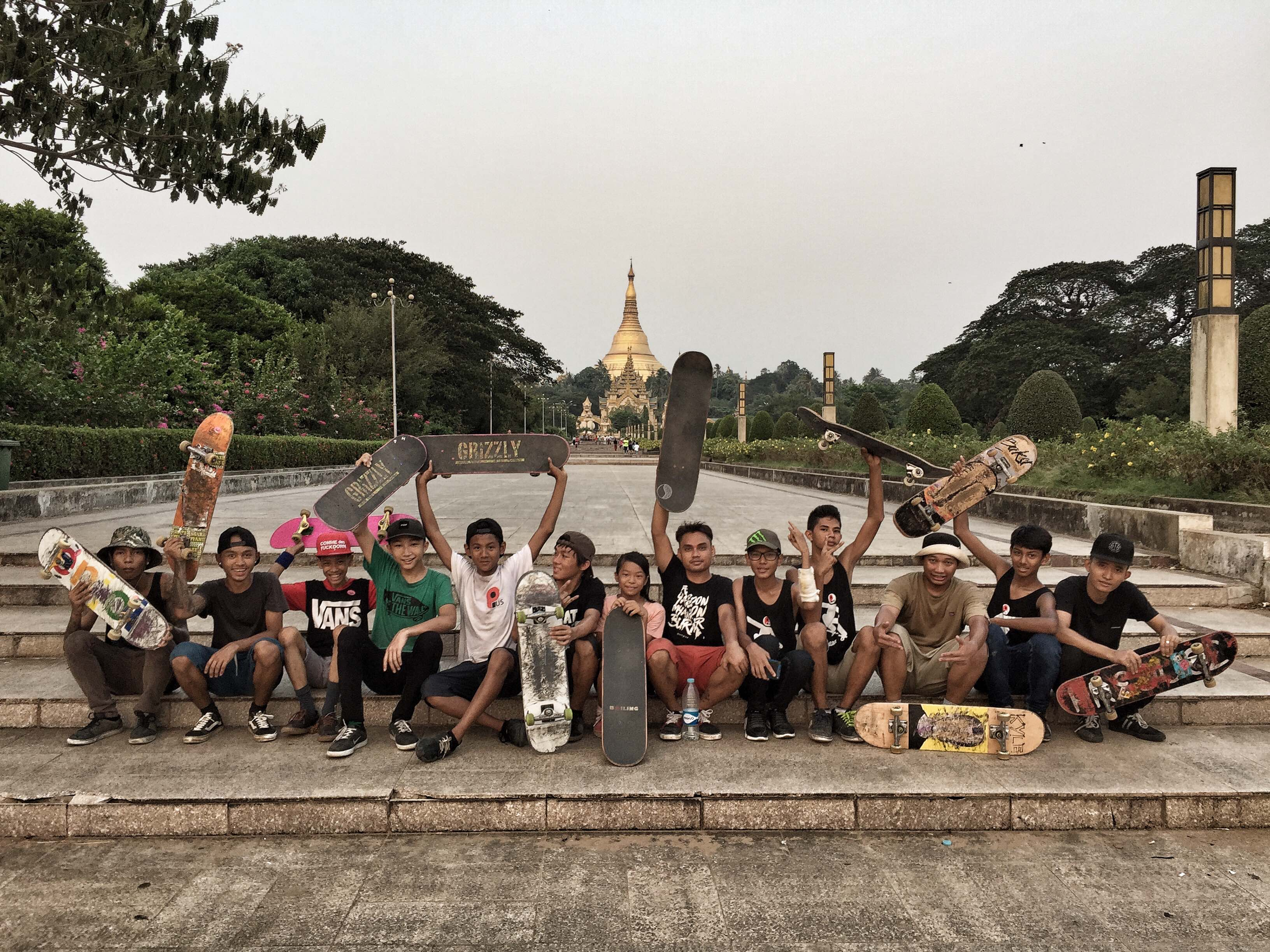 For the skaters of Myanmar, boards are a symbol of hope