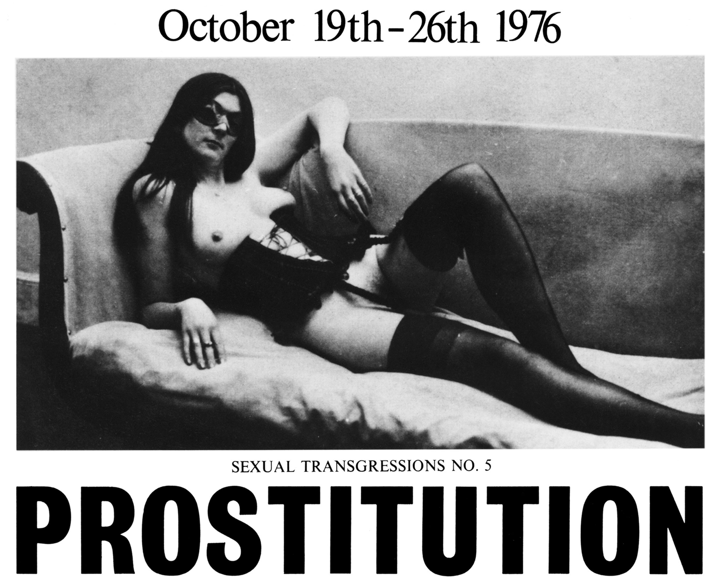 Exhibition poster for 'Prostitution' at London's ICA, 1976.