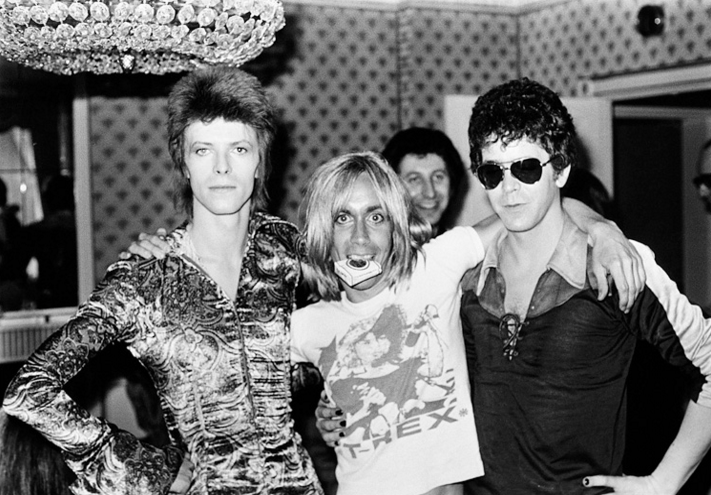 Bowie, Iggy and Lou; London, 1972.