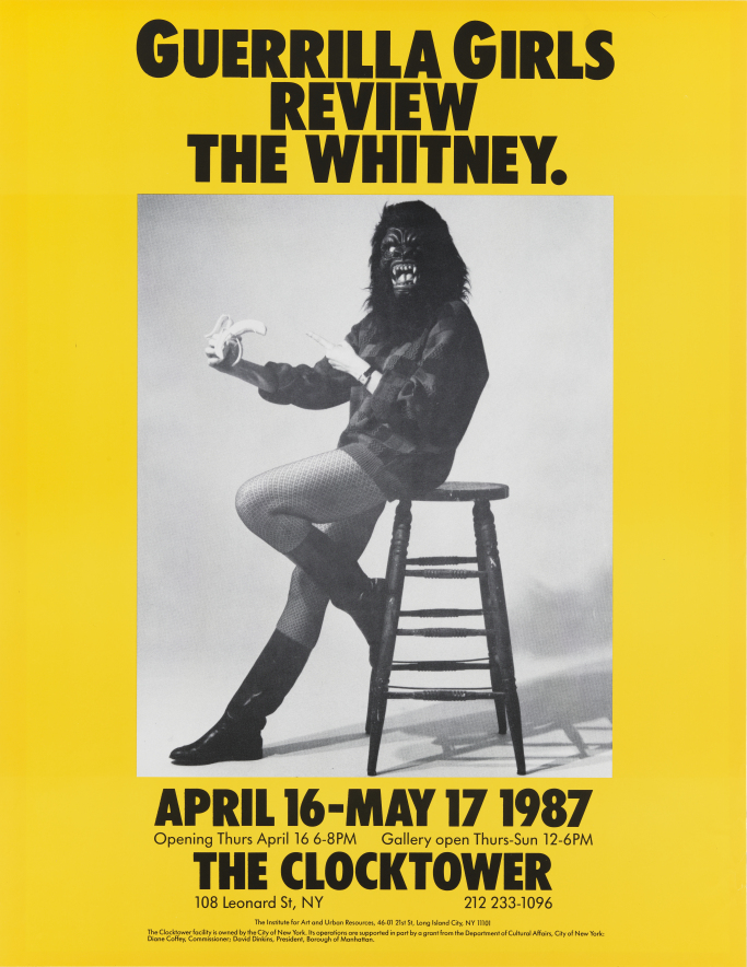 Guerrilla Girls Review the Whitney, 1987, Guerrilla Girls. Courtesy the Whitney.