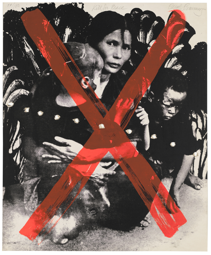 Kill for Peace, 1967, from ARTISTS AND WRITERS PROTEST AGAINST THE WAR IN VIET NAM, 1967, Carol Summers. Courtesy the Whitney.
