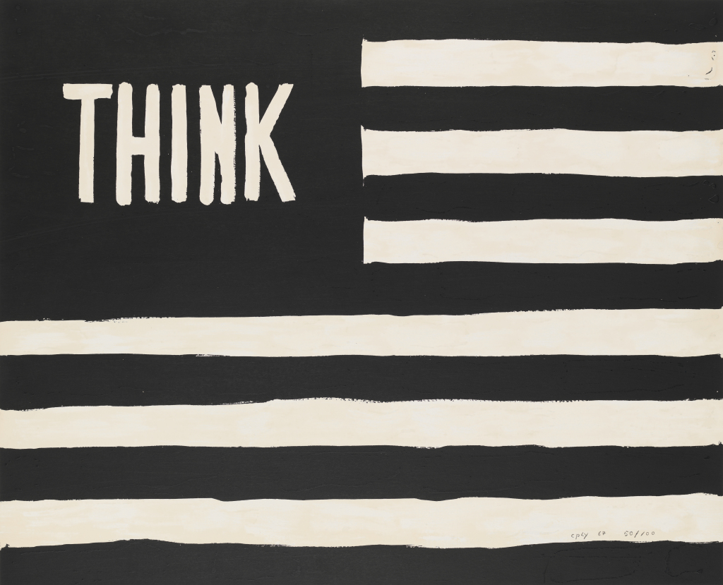 Untitled (Think/flag), 1967, William N. Copley. Courtesy the Whitney.
