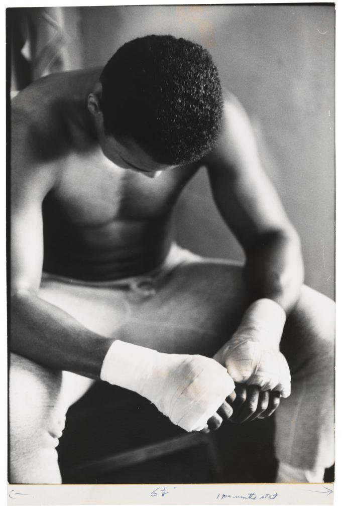 Bandaged Hands, Muhammad Ali, 1966, Gordon Parks. Courtesy the Whitney.