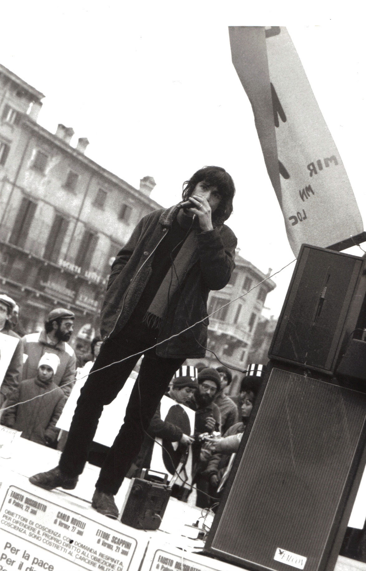 Carlo as a student activist in Bologna, Italy.