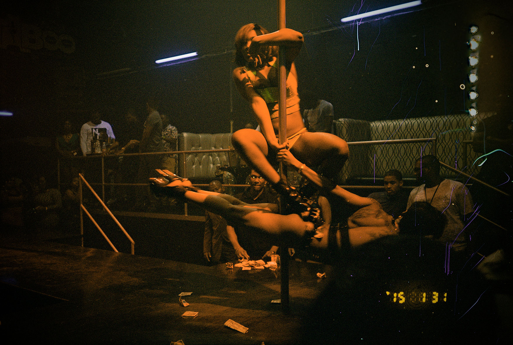 Taken at Taboo, a Montego Bay strip club frequented by people from the dancehall scene.