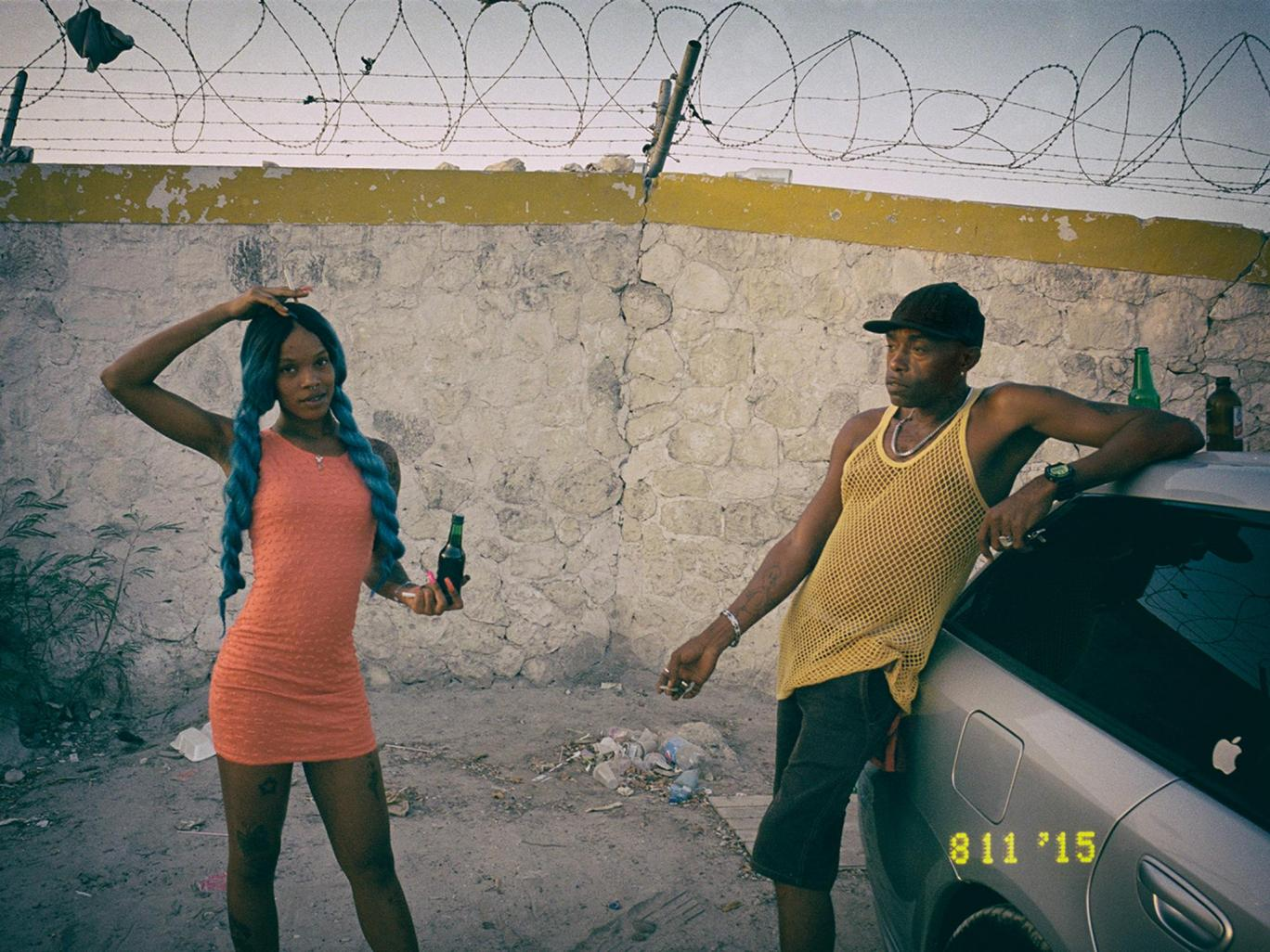 Danny and Regina, from Montego Bay, just as the sun rises after a party.