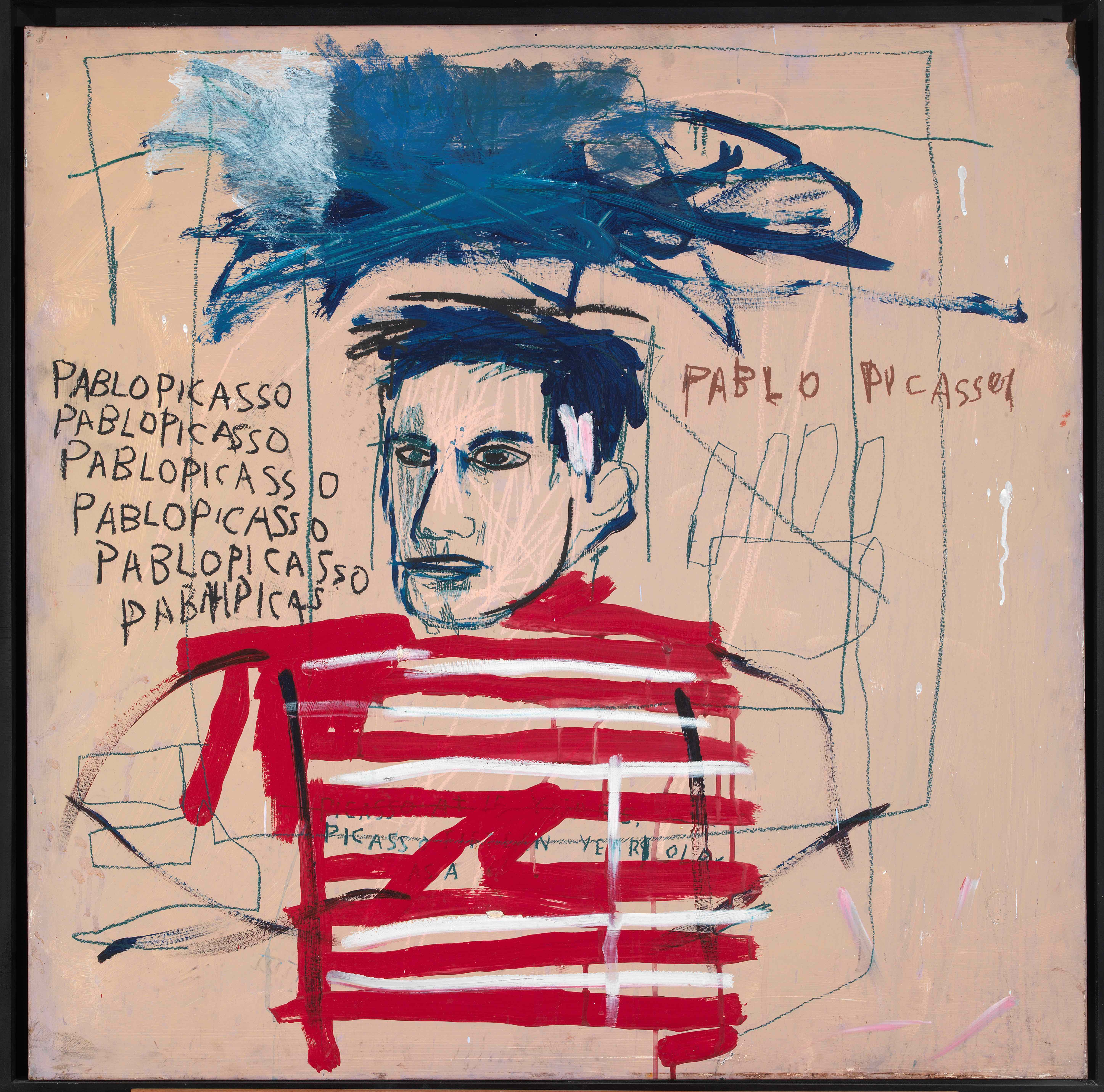 Jean-Michel Basquiat Untitled (Pablo Picasso), 1984 Private collection, Italy. © The Estate of Jean-Michel Basquiat. Licensed by Artestar, New York.
