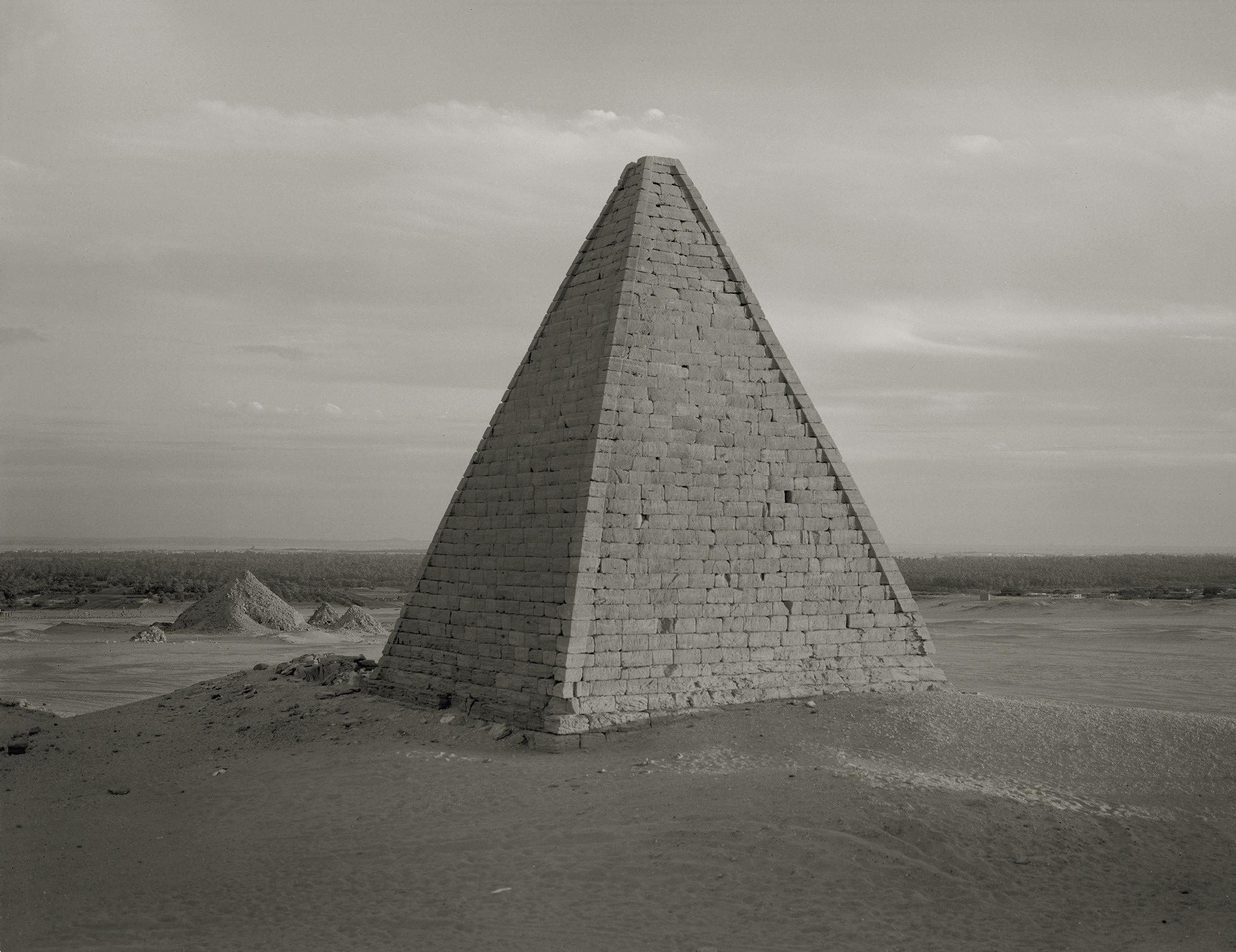 Claude Iverné, Pyramid, Meroitic Period, Jebel Barkal, Dar Cheiguir, Nubia, Jan. 2004