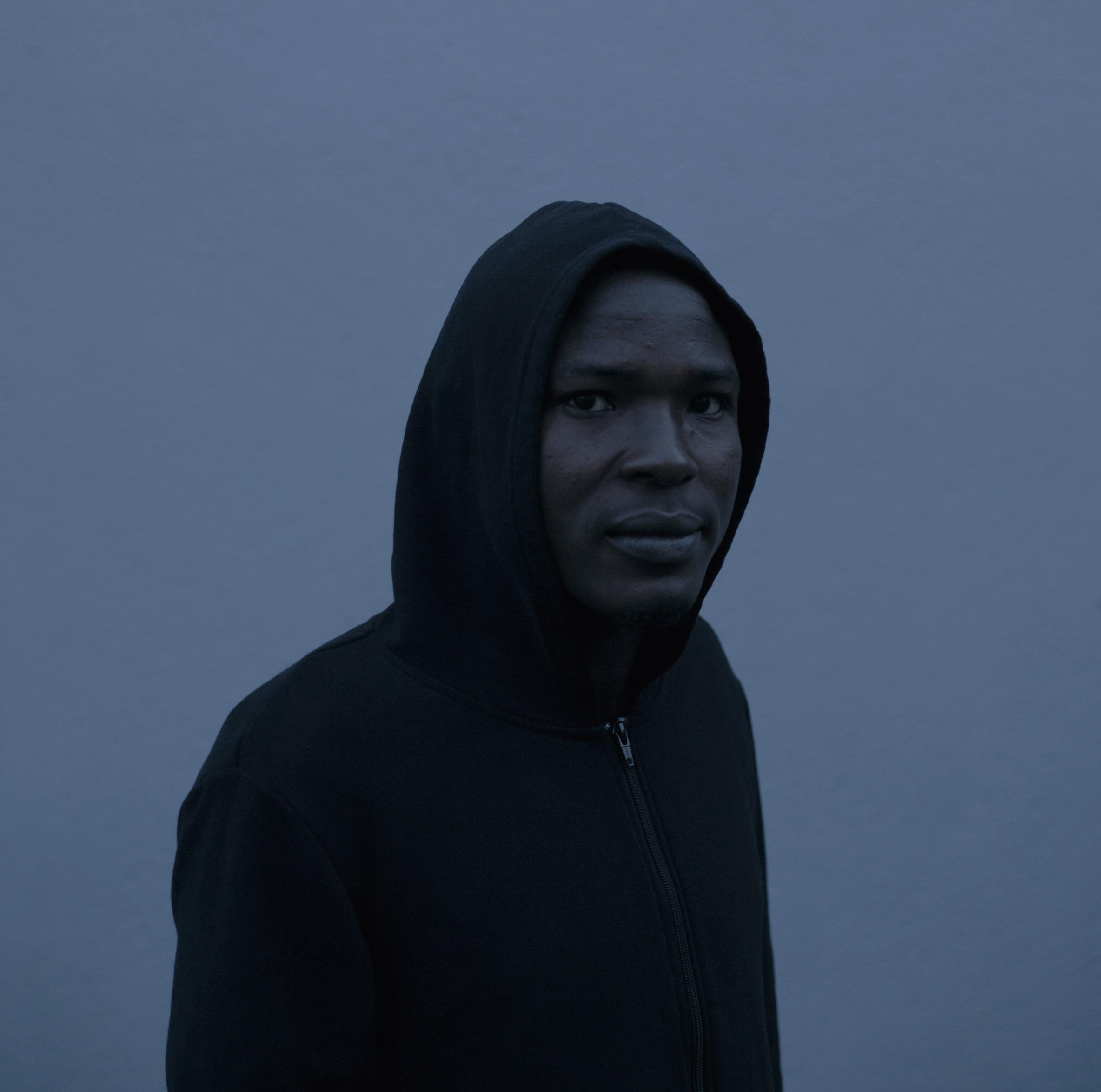 Claude Iverné, Ahmad Ali Abdulgari, Bergo people, Asylum seeker, Trégastel, Dec. 2016
