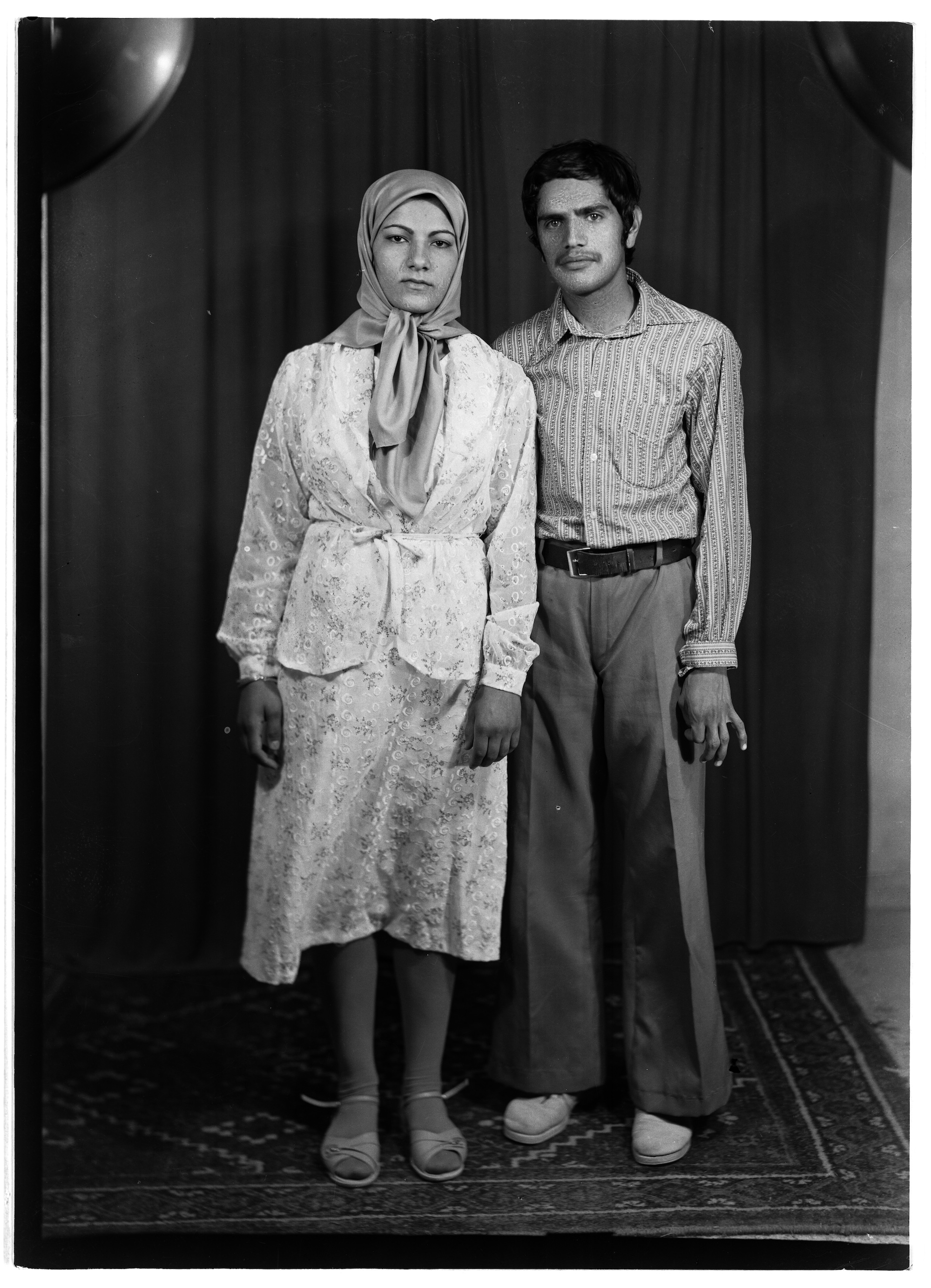 Iranian Photo Studio of pre-Islamic revolution. Collection of Shadi Ghadirian.