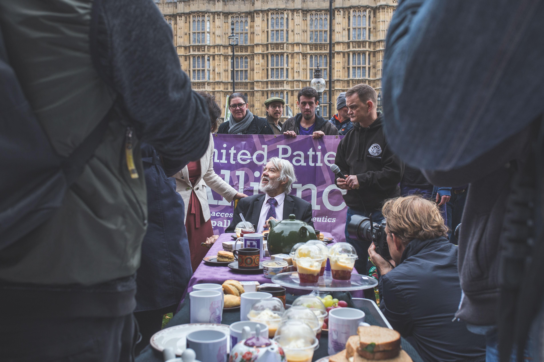 Politicians and pot smokers hold marijuana tea party in London