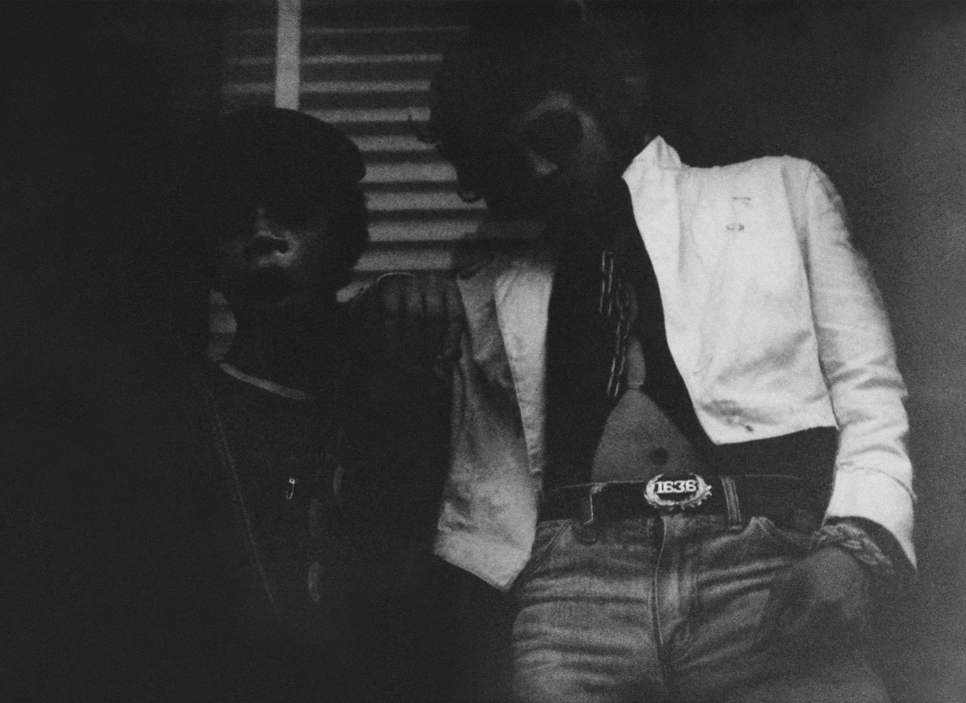 SAMO©… Jean-Michel Basquiat and Al Diaz, previously unpublished - one of only a few known images of the infamous duo together. Courtesy of House of Roulx