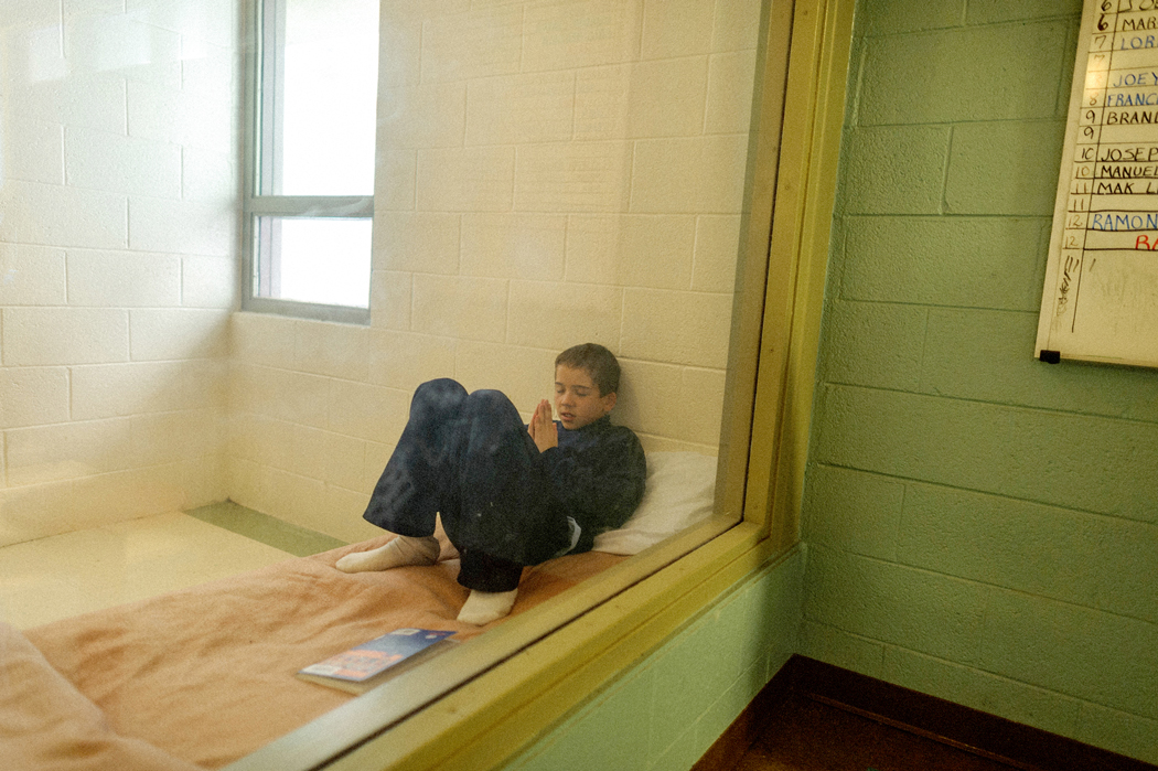 Vinny, a 13-year-old imprisoned for stabbing a man. Photo: Isadora Kosoksky.