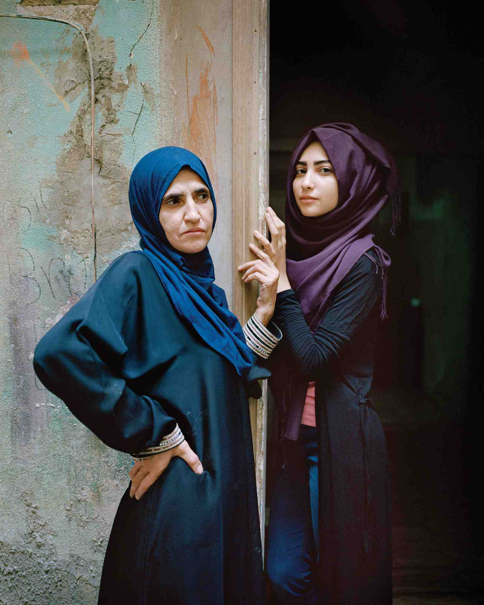 Wafa'a and Samira, Bourj El Barajneh Refugee Camp, Beirut Lebanon, 2016