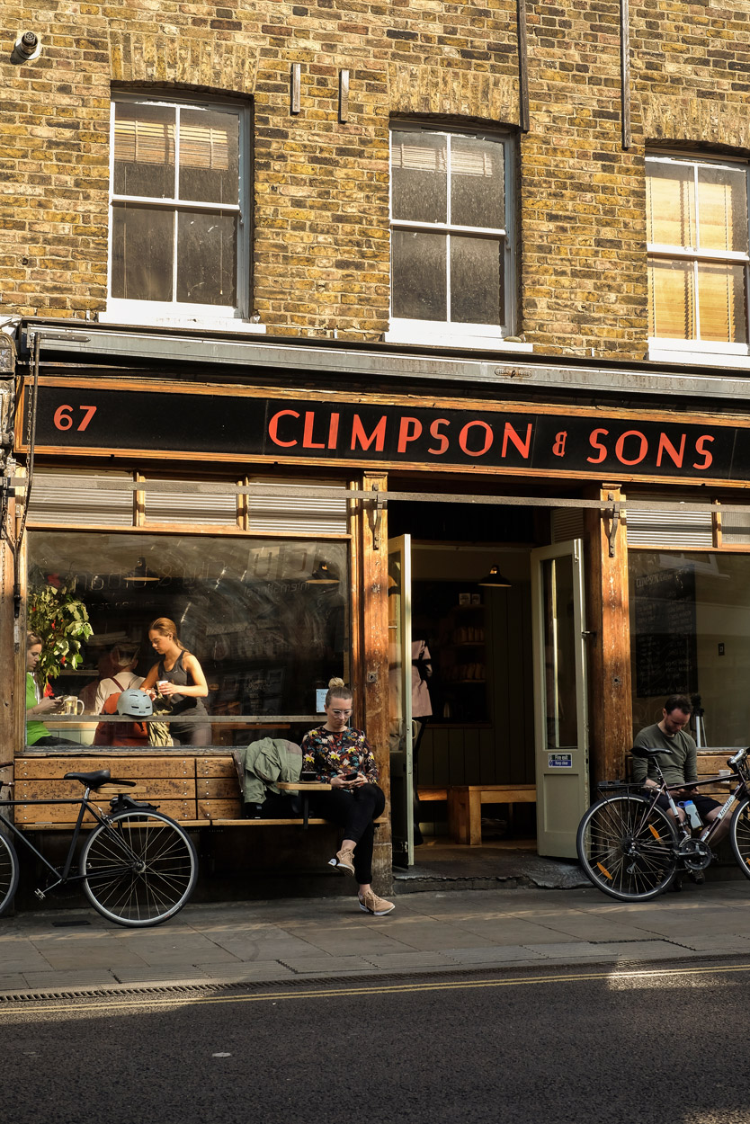 Climpson & Sons. Coffee roastery and café, London Fields.
