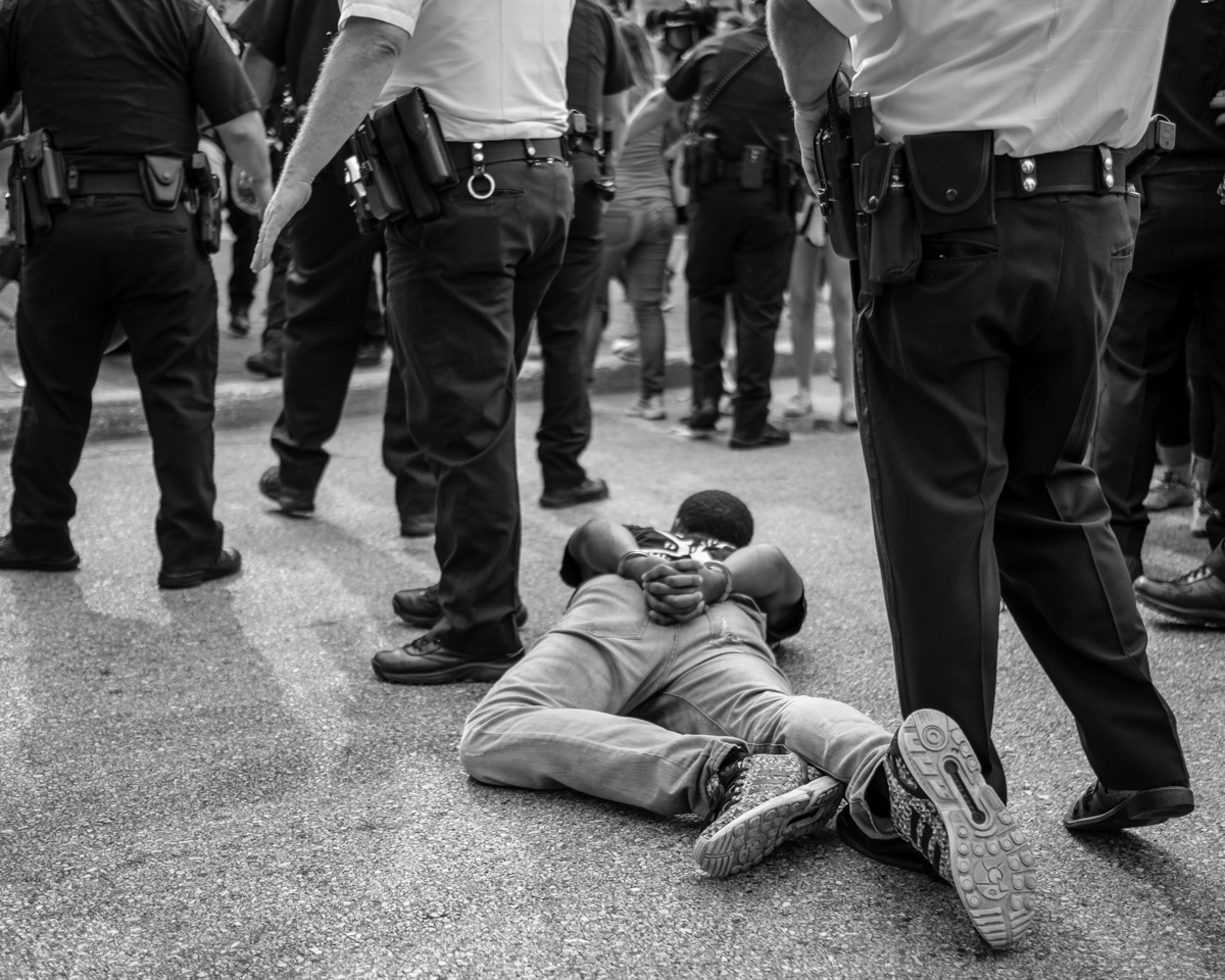 'Untitled' Photo by Michael A. McCoy. Baltimore Uprising, Baltimore, MD, 2015