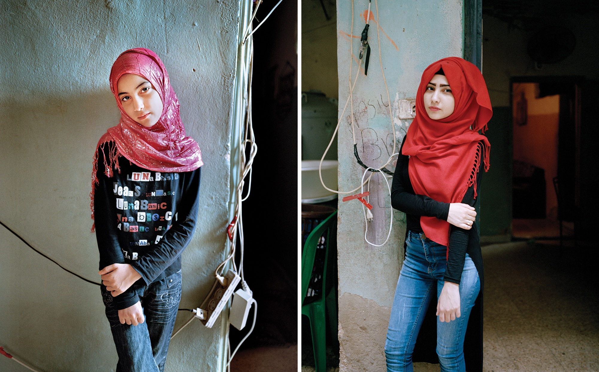 Samira at 12 and at 17, Bourj El Barajneh Refugee Camp, Beirut Lebanon, 2011, 2016