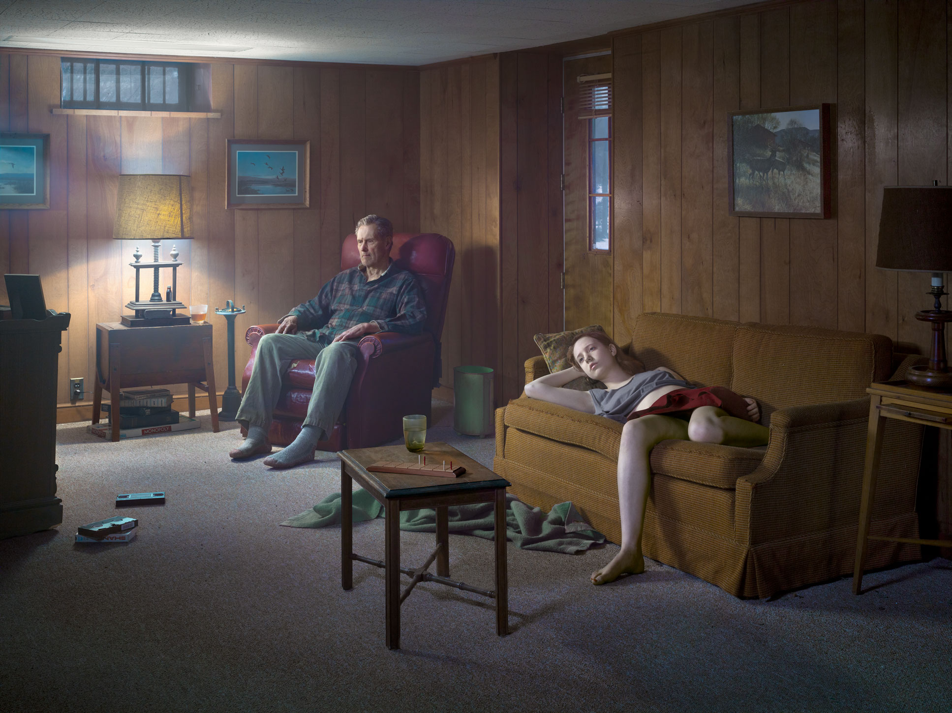 he Basement, 2014 Digital pigment print © Gregory Crewdson. Courtesy Gagosian.