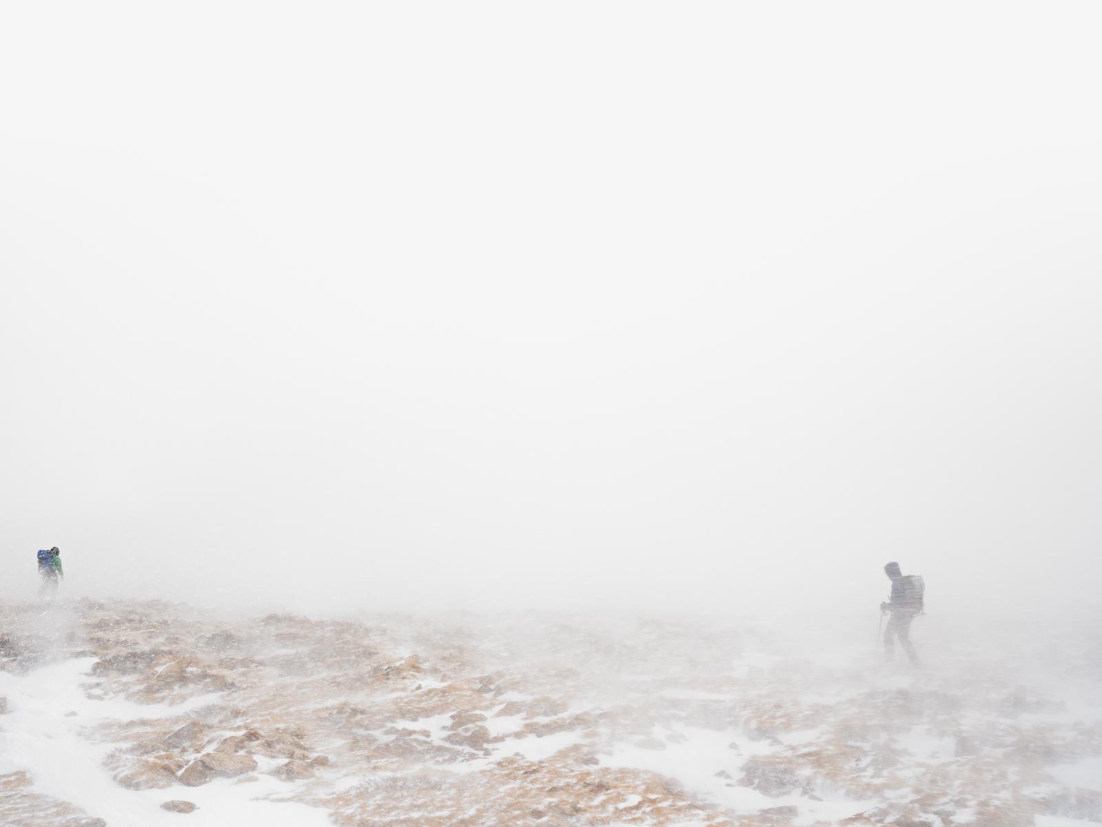 Researchers during a whiteout, Niwot Ridge, Colorado. © Lucas Foglia, courtesy of Michael Hoppen Gallery, London.