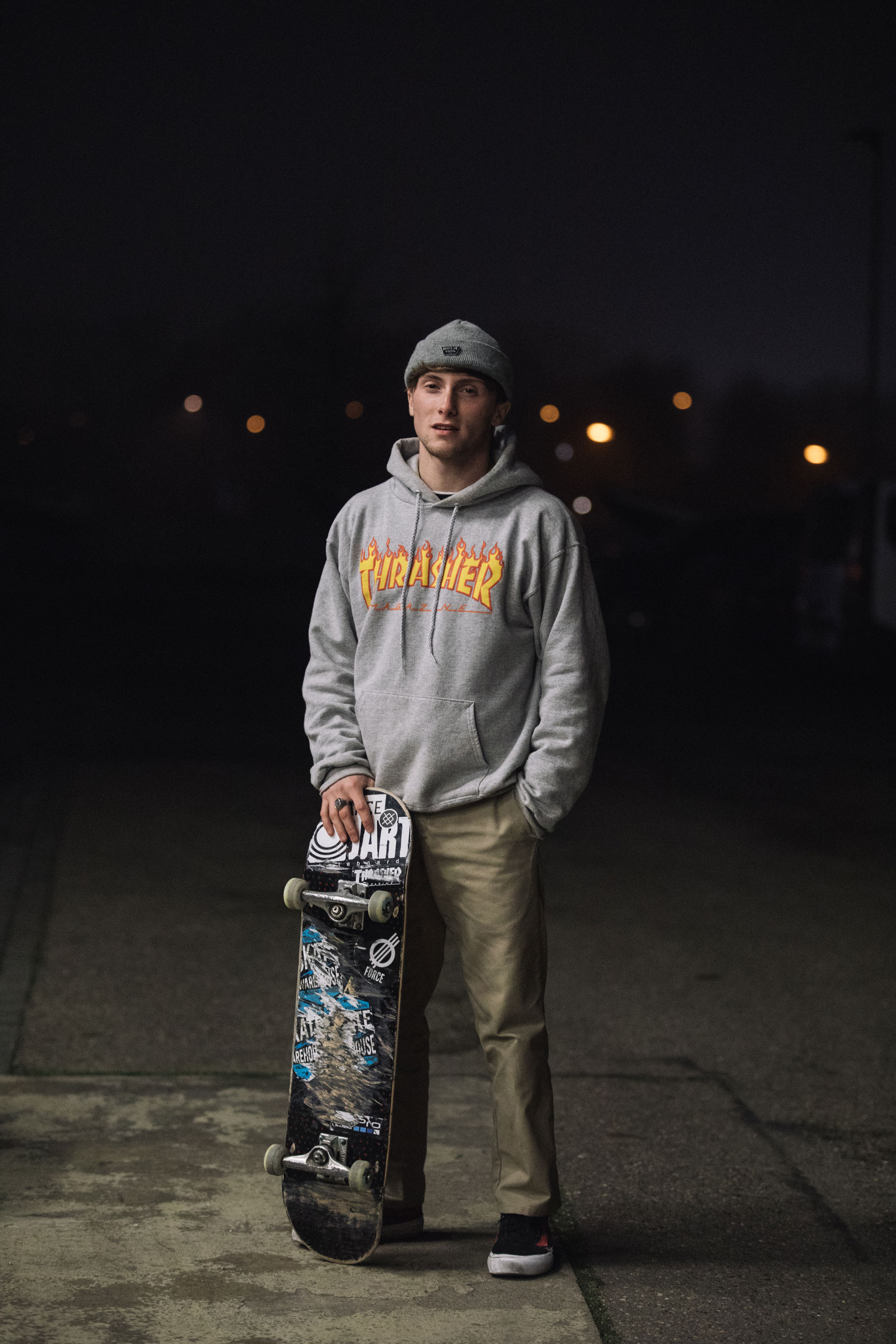 """Alex DeCunha, 20, Skate Warehouse (UK). """"I think the importance of skate shops is guidance, without them people would just buy random things that might not be best for them. Plus, learning to skate in front of huge groups of people really helps with your confidence in day-to-day situations."""""""