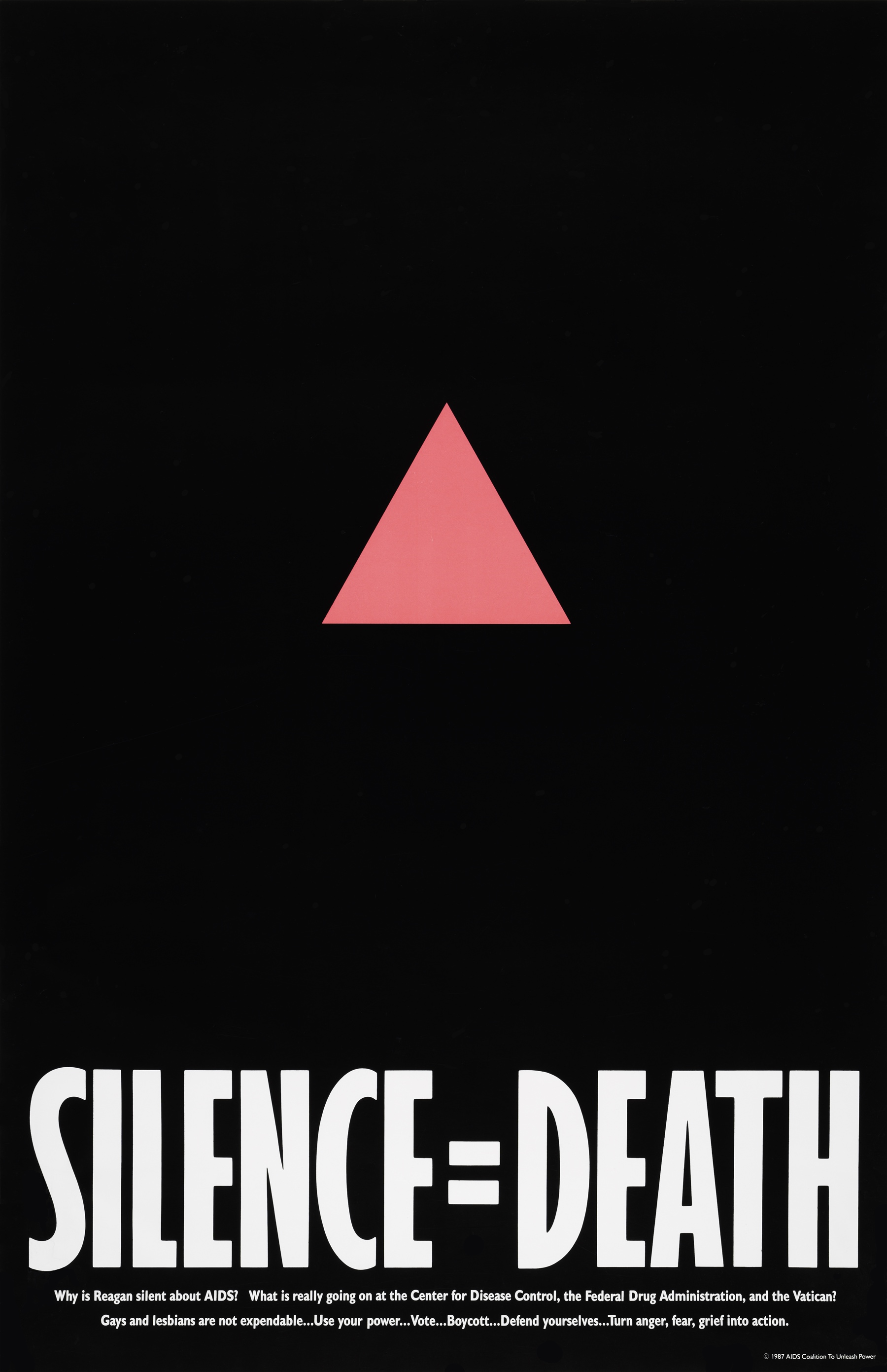 Silence = Death,  The Silence = Death Project, 1987, poster, offset lithography.