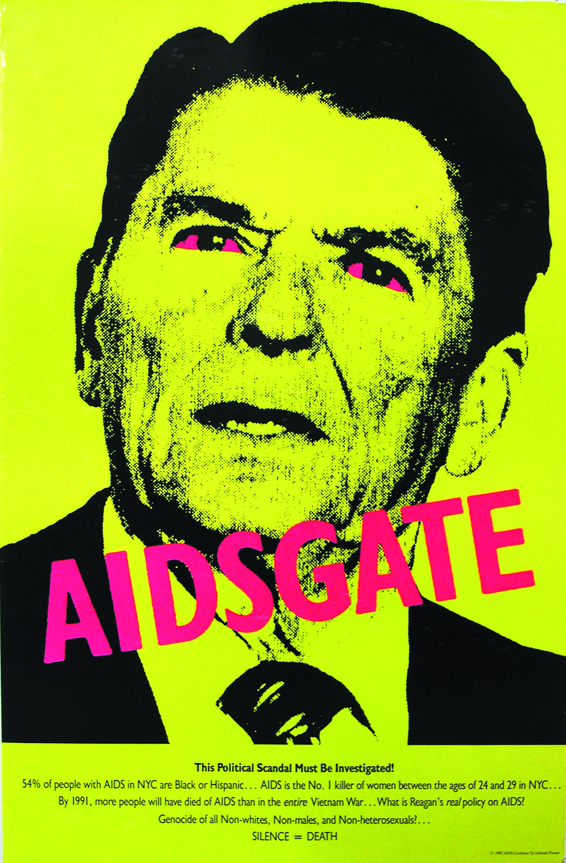 AIDSGATE,  The Silence = Death Project, 1987, poster, offset lithography