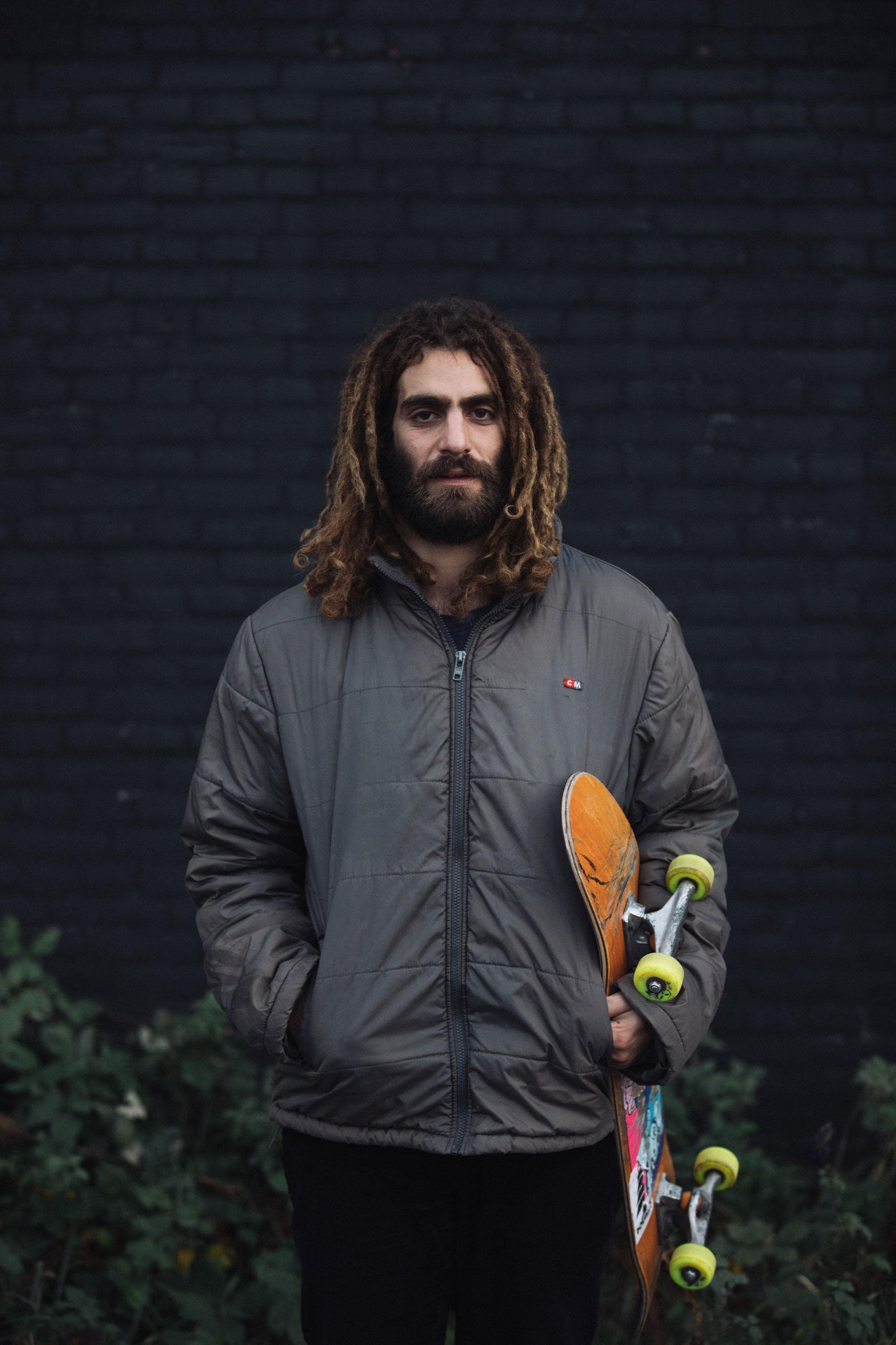 """Itamar Kessler, 25, Gilis (Israel). """"When you introduce yourself to skating, you go to a skate shop, you meet people and that vibe puts an imprint on you. I used to work in a skate shop; if you go to a good one and keep buying there, that gives you a much better education than just buying online."""""""