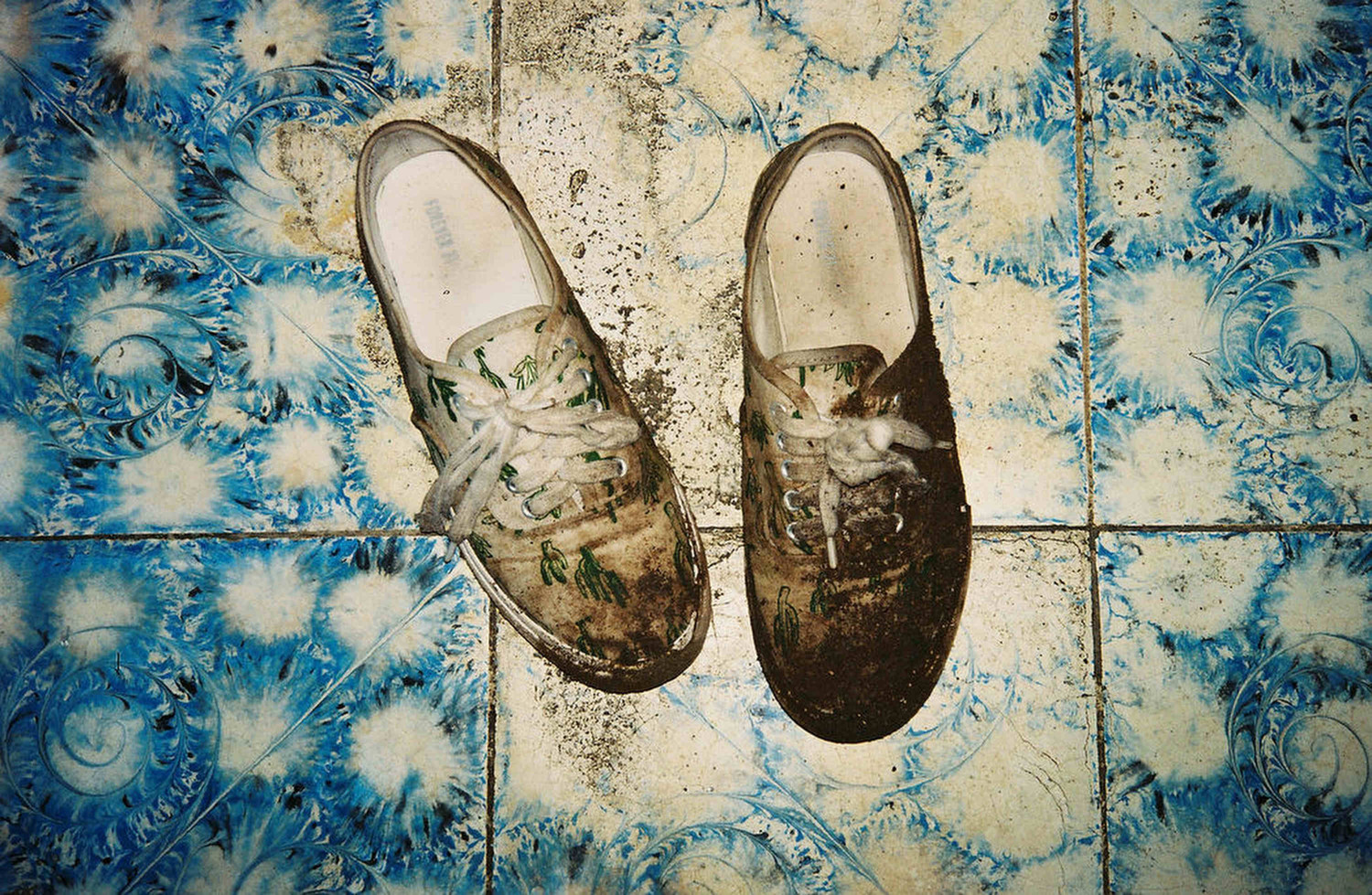 Shoes after crossing the border from Nicaragua into Honduras.