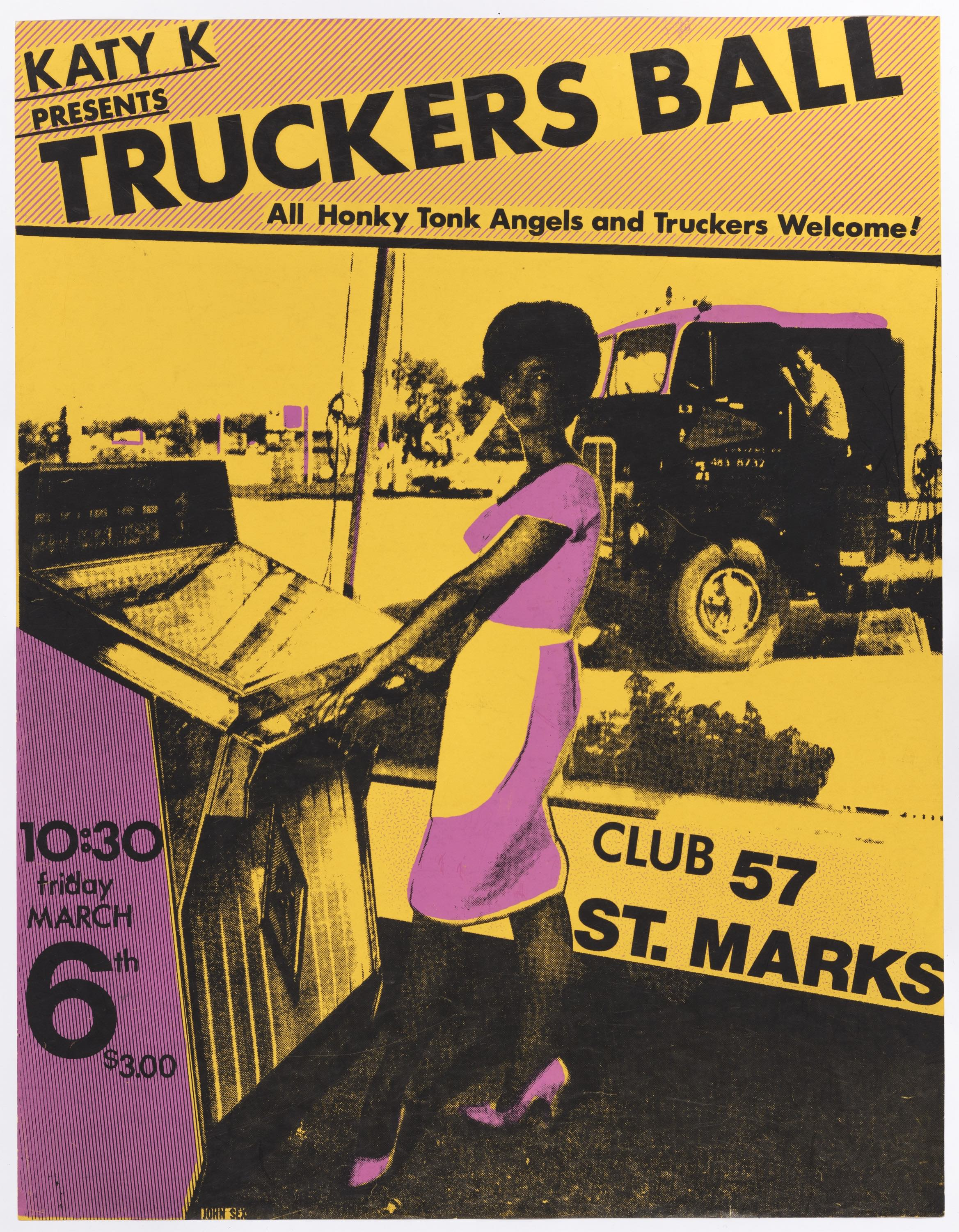John Sex (American, 1956–1990). Truckers Ball, 1981. Silkscreen. The Museum of Modern Art, New York. Department of Film Special Collections
