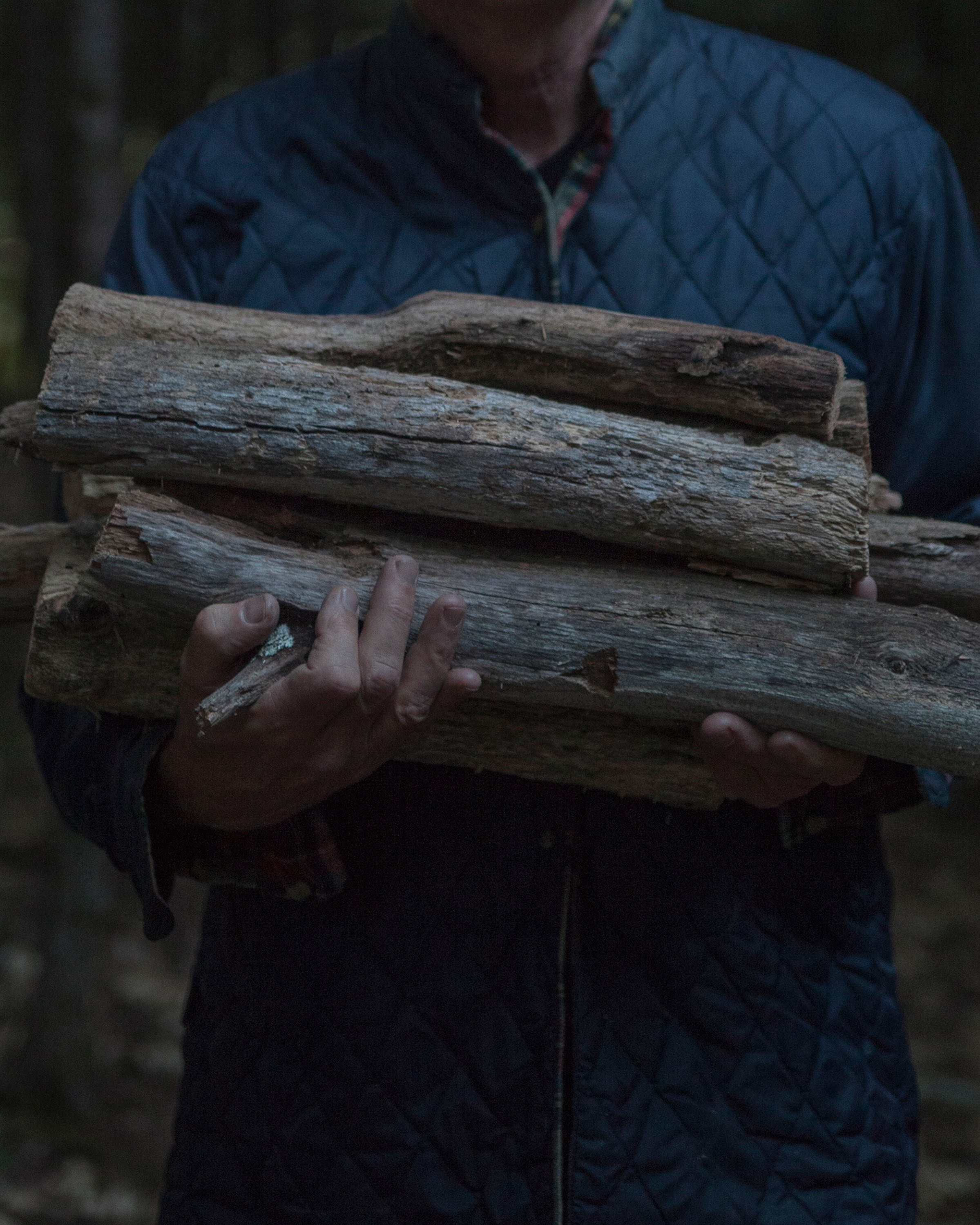 Dad with Firewood ©Amani Willett