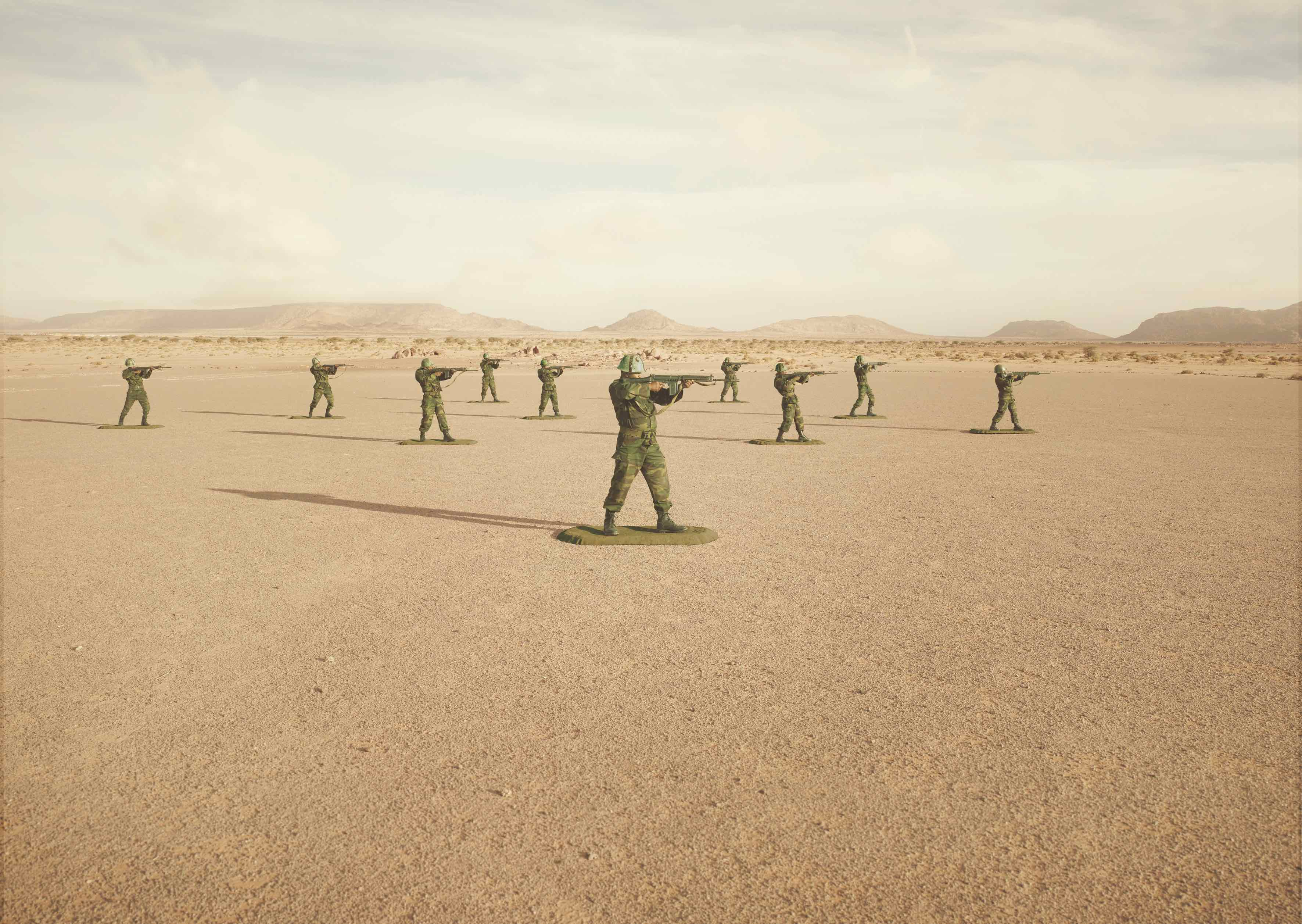 'Toy Soldiers' © Simon Brann Thorpe, from 'War Is Only Half The Story', The Aftermath Project & Dewi Lewis Publishing