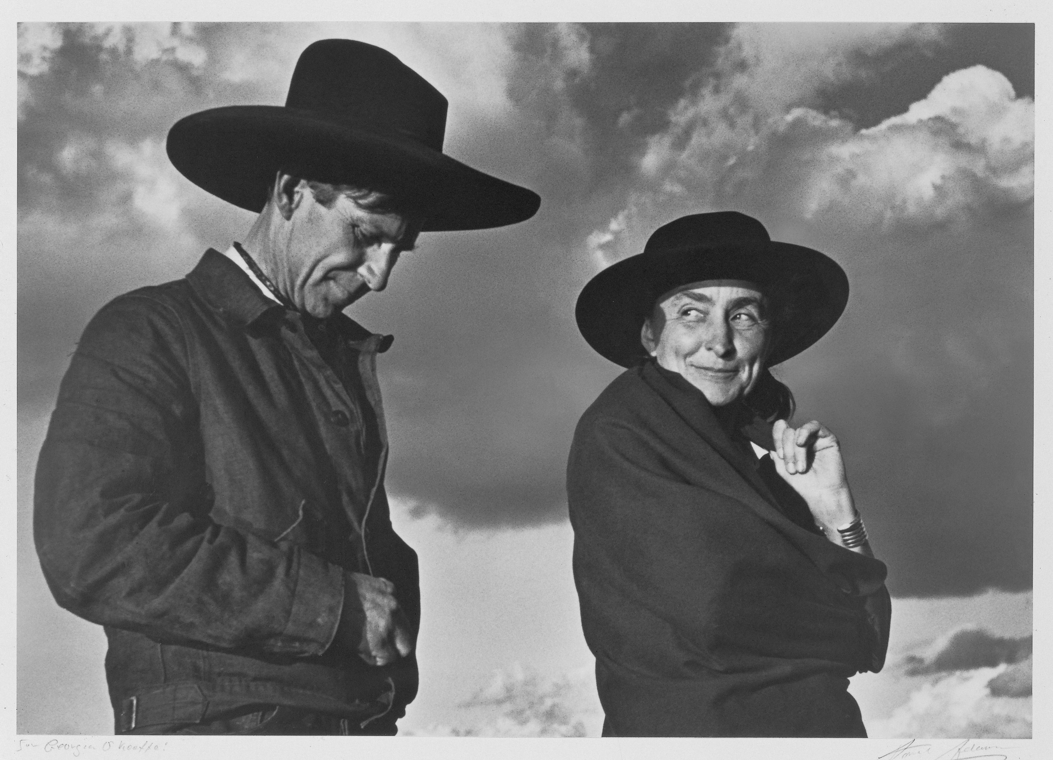 Ansel Adams (American, 1902–1984). Georgia O'Keeffe and Orville Cox, 1937. Georgia O'Keeffe Museum, Santa Fe, N.M.; Gift of The Georgia O'Keeffe Foundation, 2006.06.1480. © 2016 The Ansel Adams Publishing Rights Trust