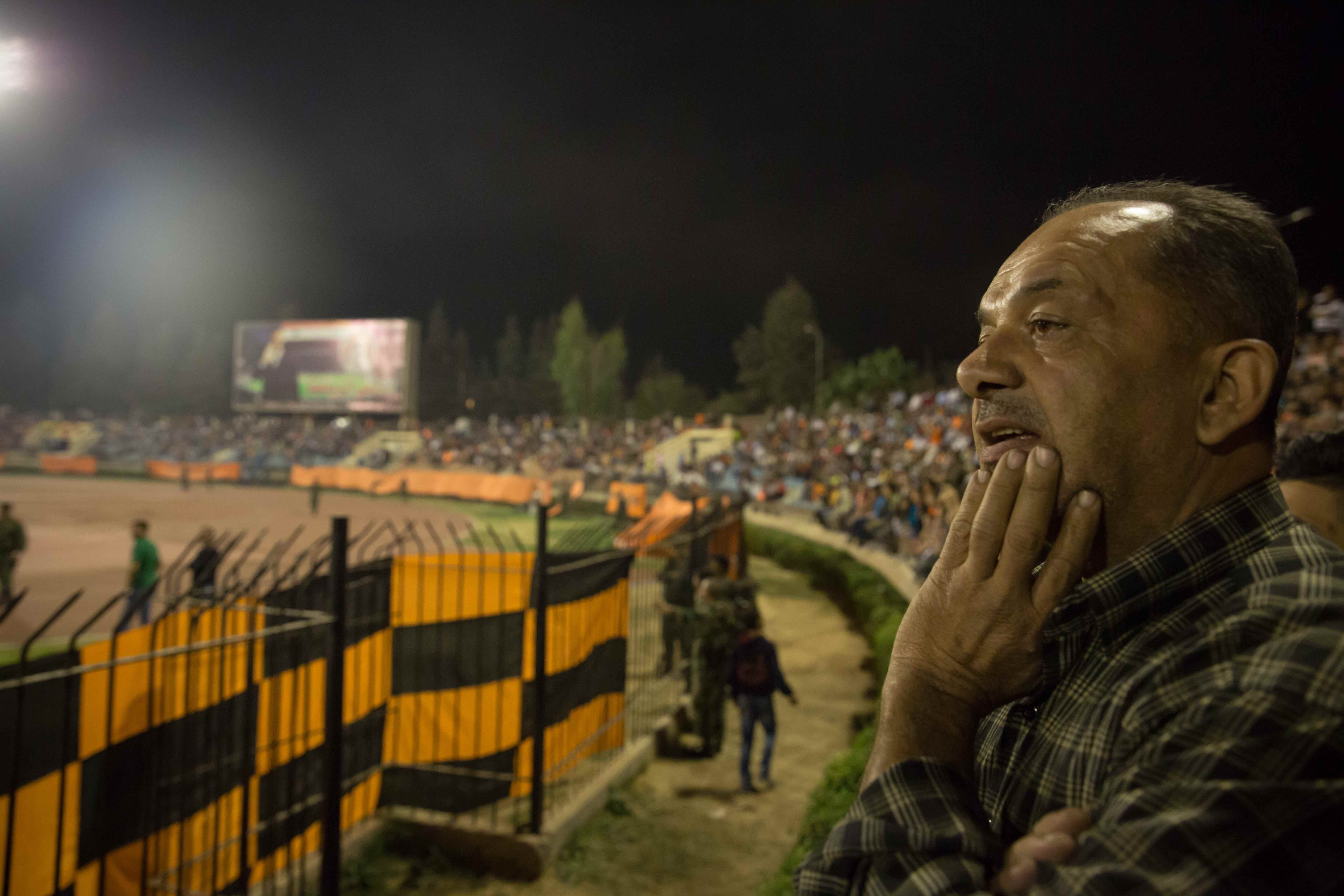 Fouad Ibrahim, a 55-year-old local who has been attending matches since he was 15, said the routine of football has brought him comfort during the war.