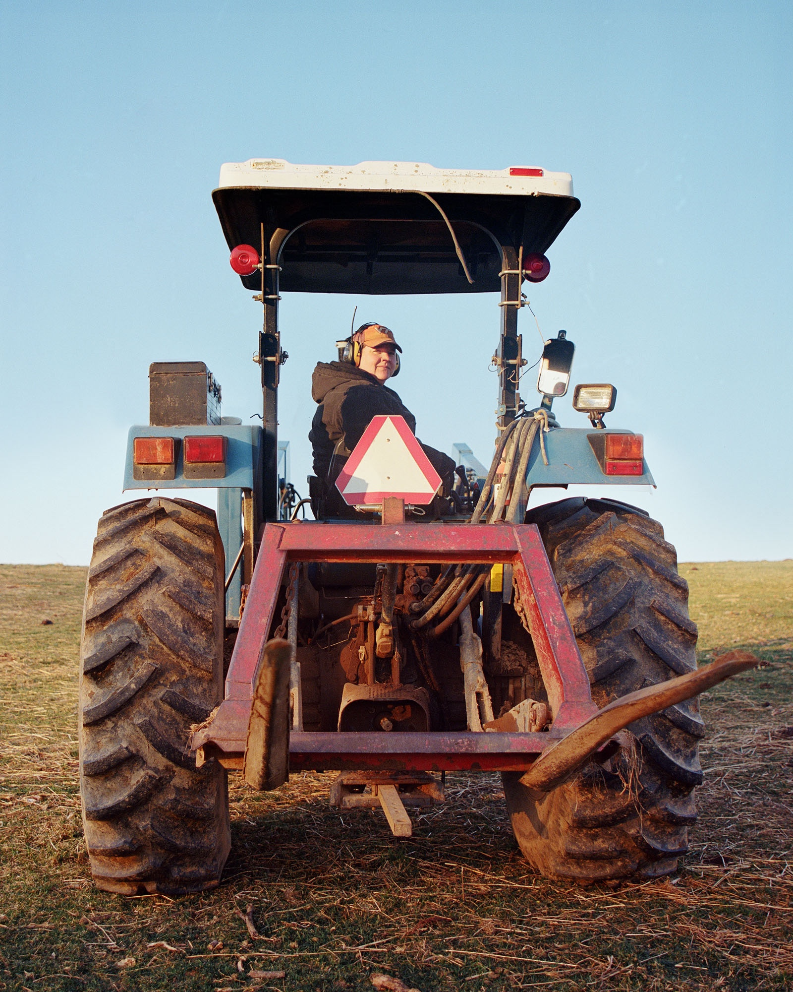 Laura in her Tractor