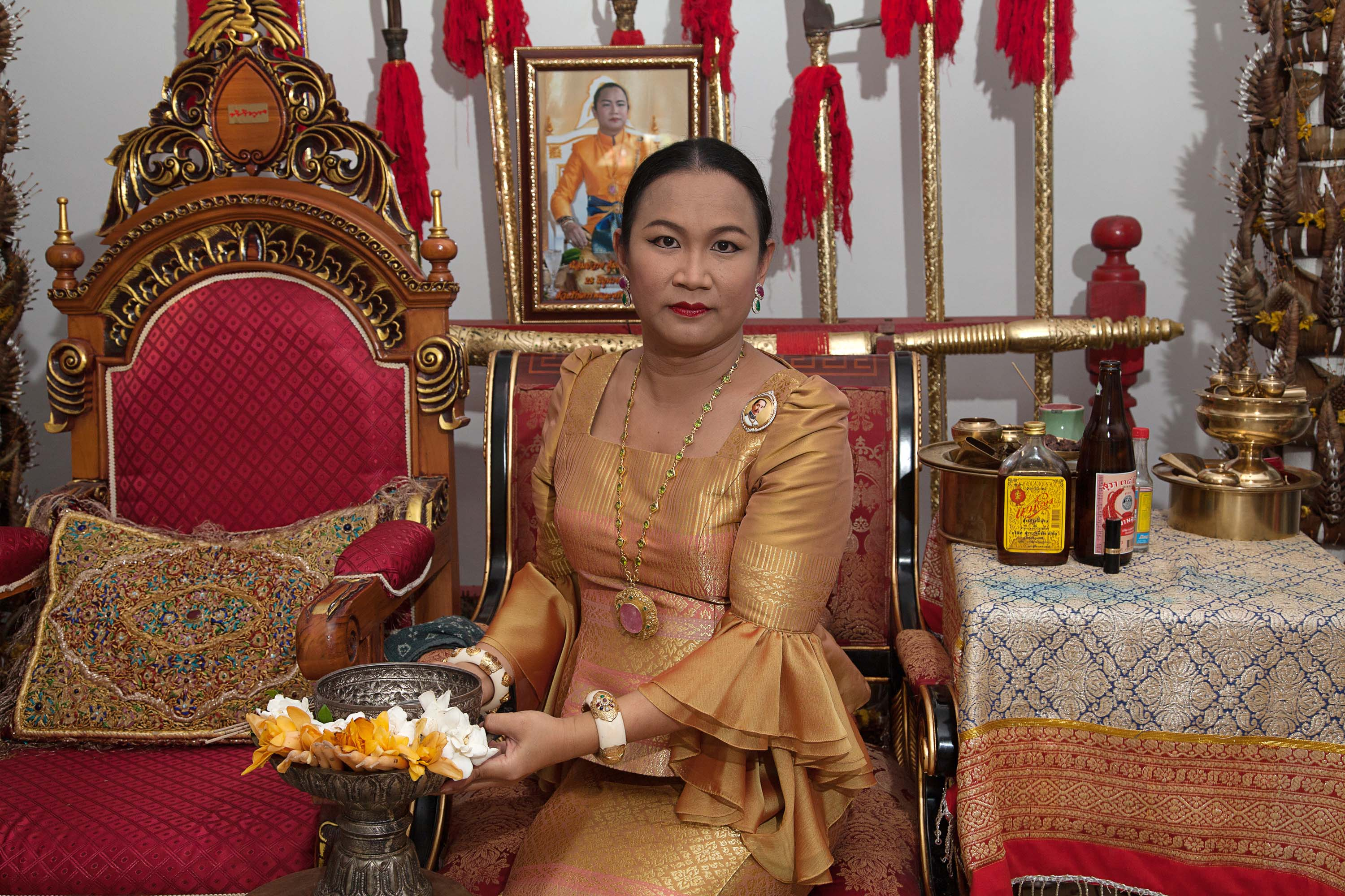 Prem, a transgender woman, who may be possessed by seven different spirits, is one of the most respected maa khii (spirit mediums) in Thailand. People come to see her for spiritual counseling, healing, or good fortune through the intercession of the spirits that possess her.