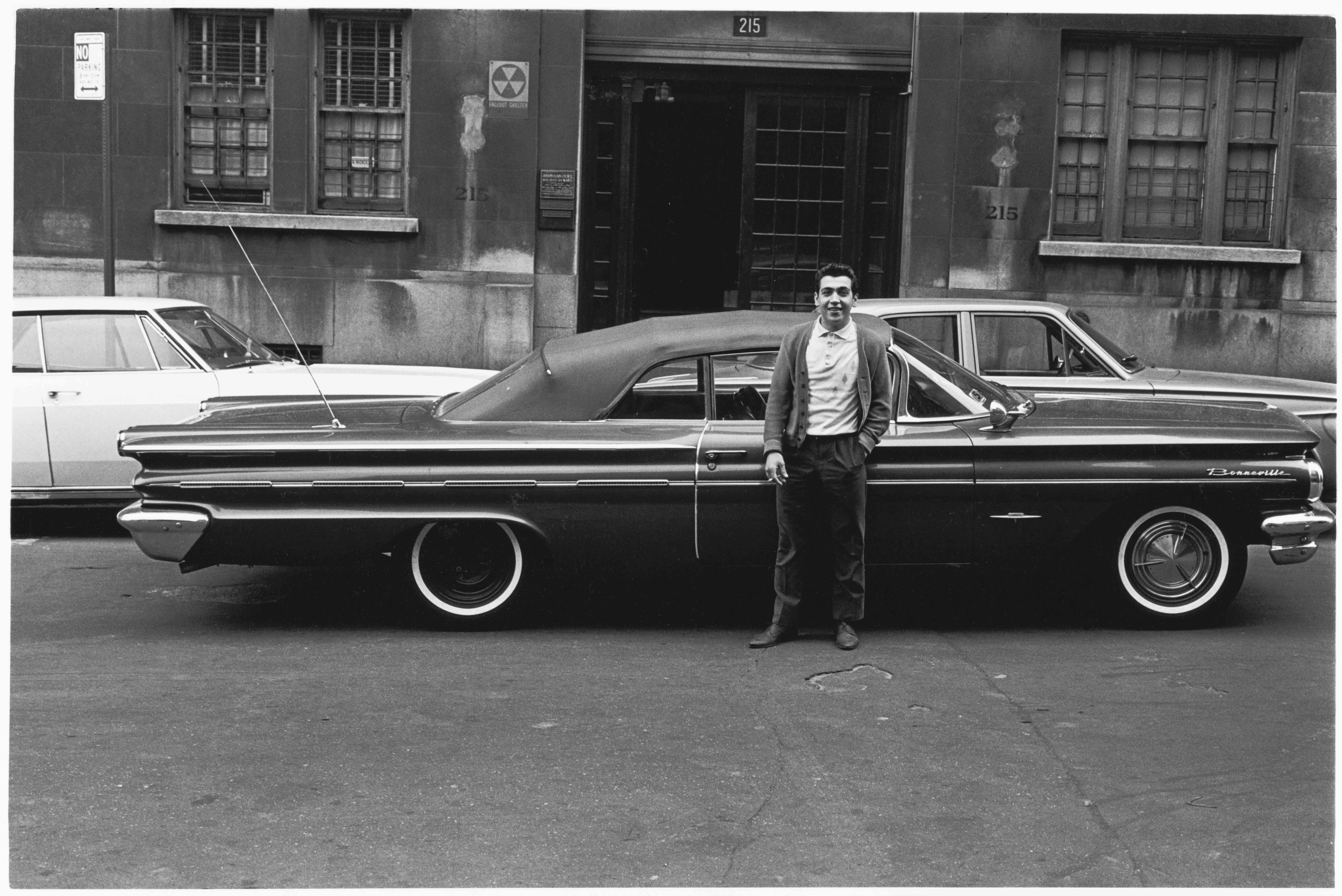 Pontiac Bonneville and its proud owner, 1965