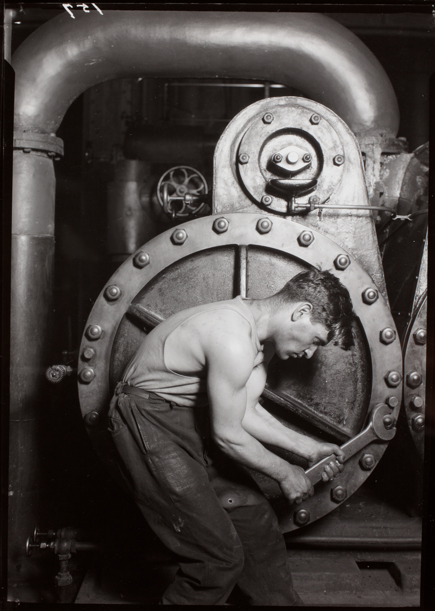 Powerhouse mechanic, 1920. Lewis W. Hine. Courtesy of George Eastman Museum, gift of the Photo League Lewis Hine Memorial Committee.