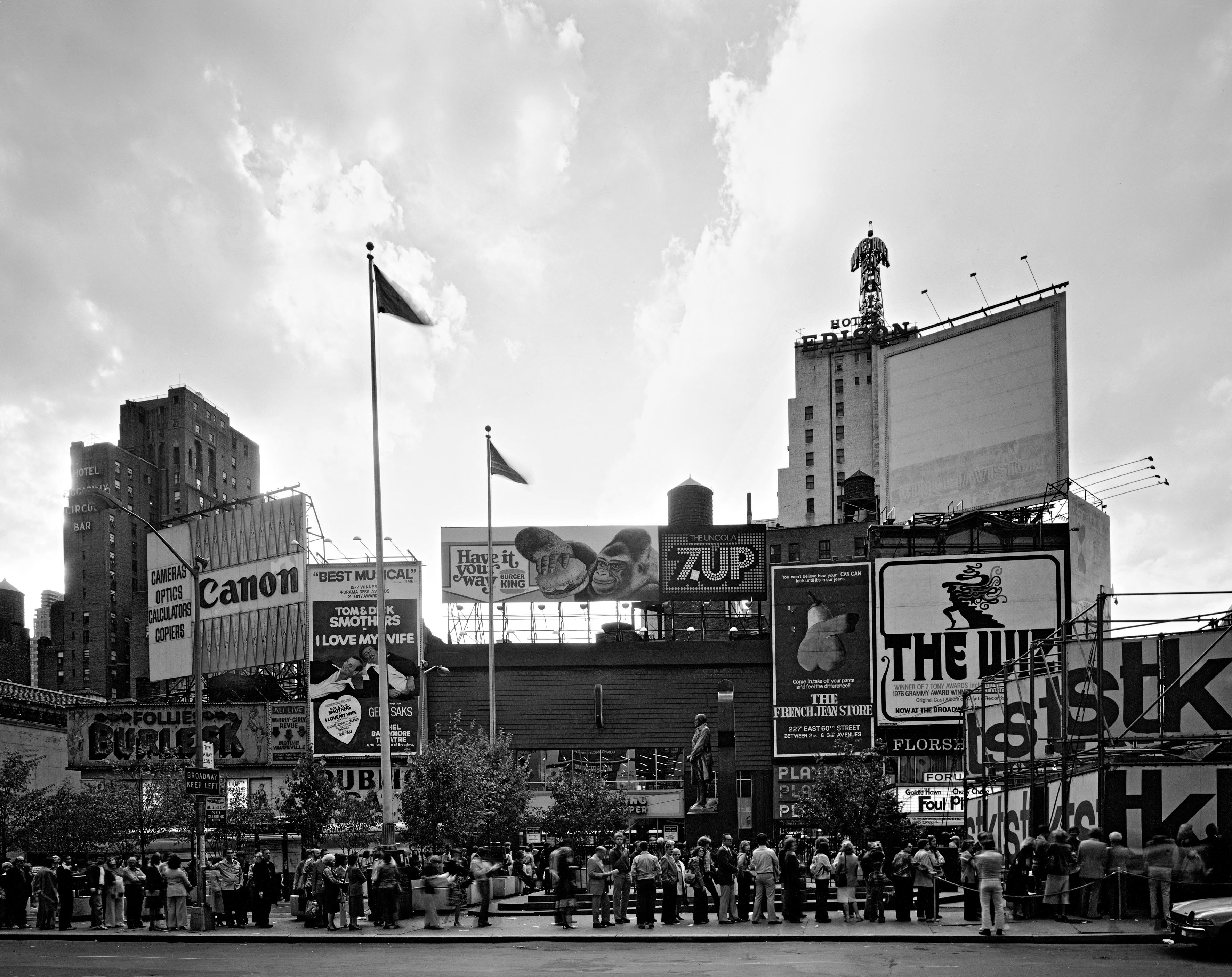Times Square at Duffy Square, 1977.