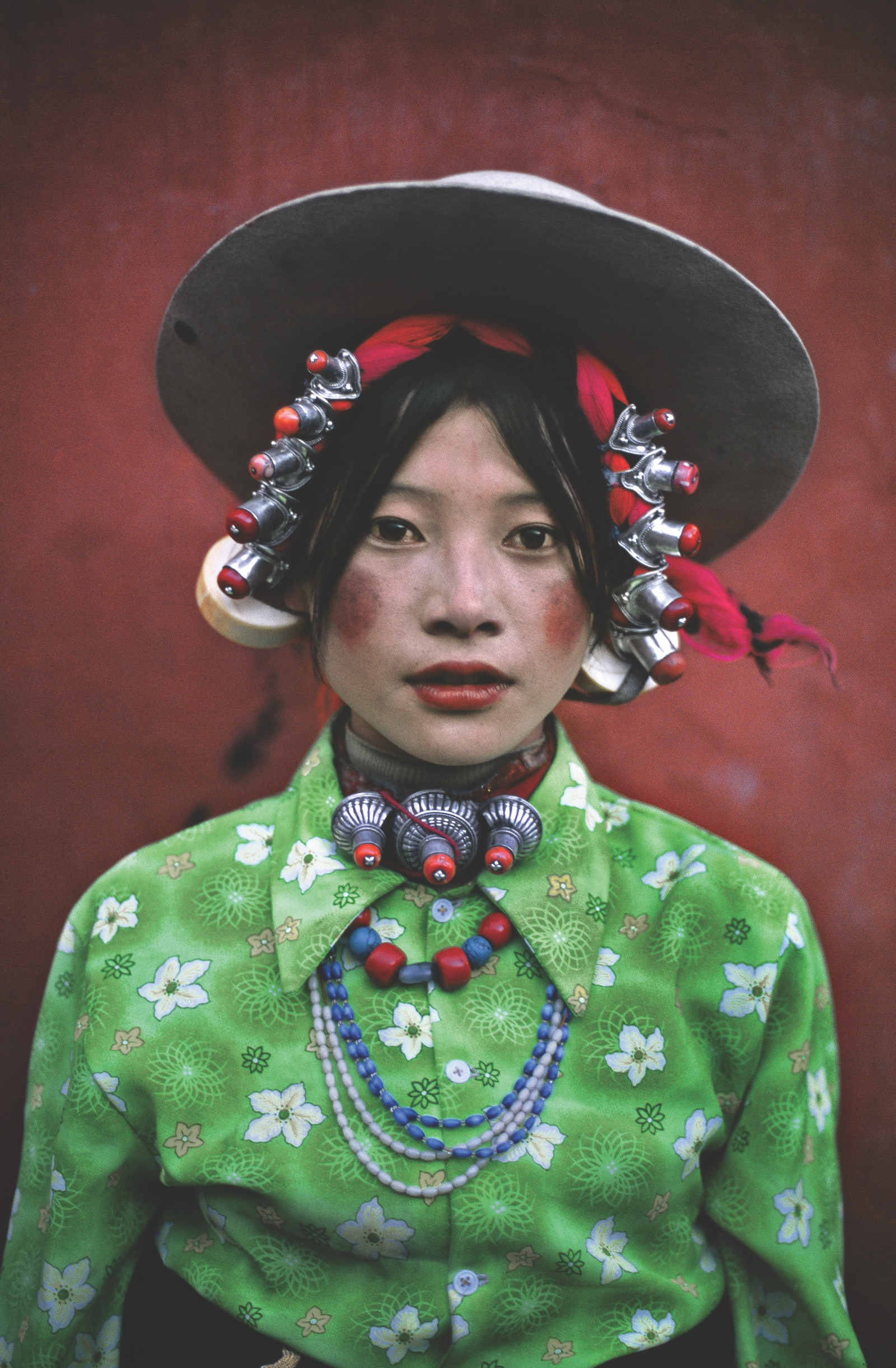 Young Woman at a Horse Festival, Tagong, Tibet, 1999.