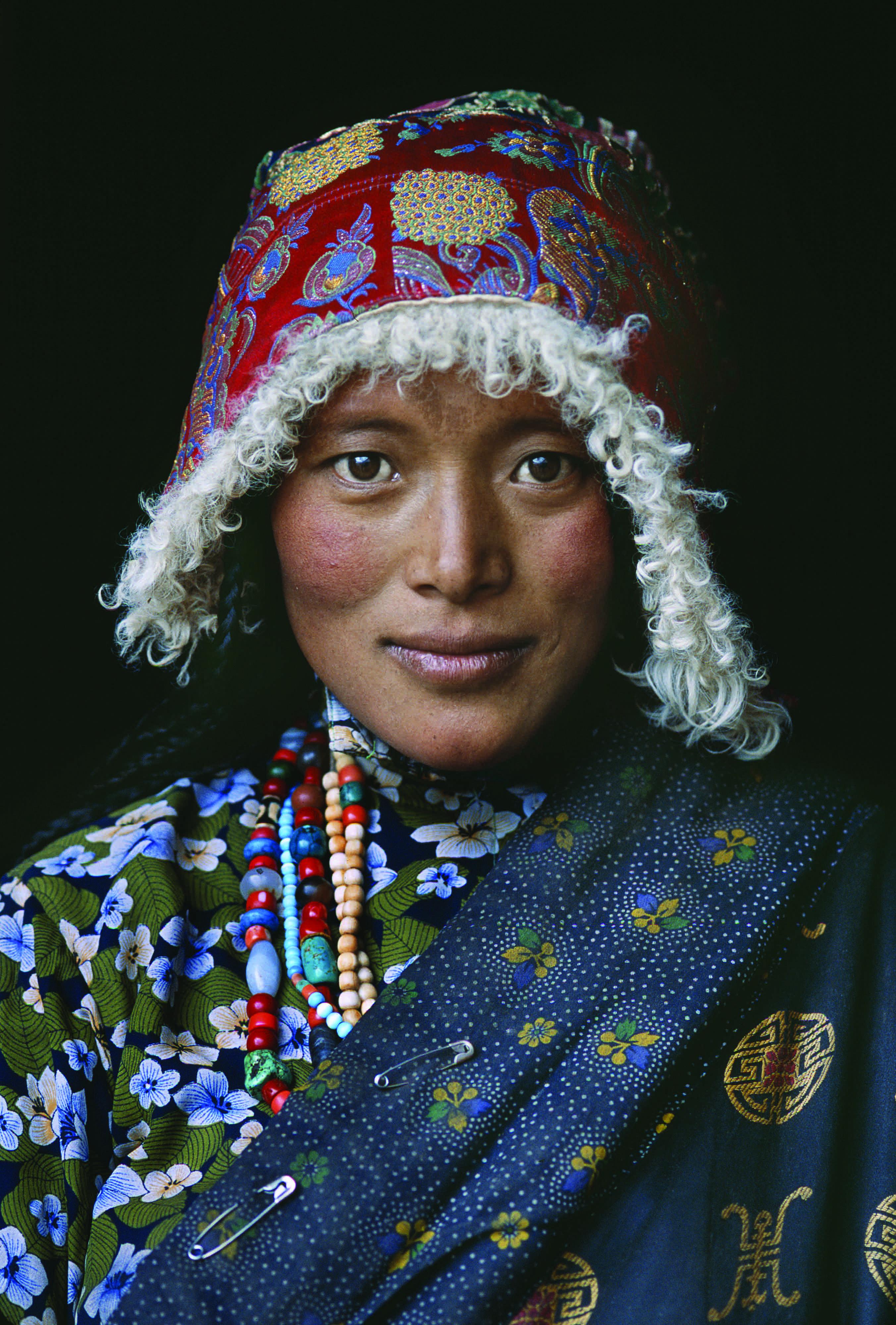 Pilgrim at a Stupa, Amdo, Tibet, 2001.