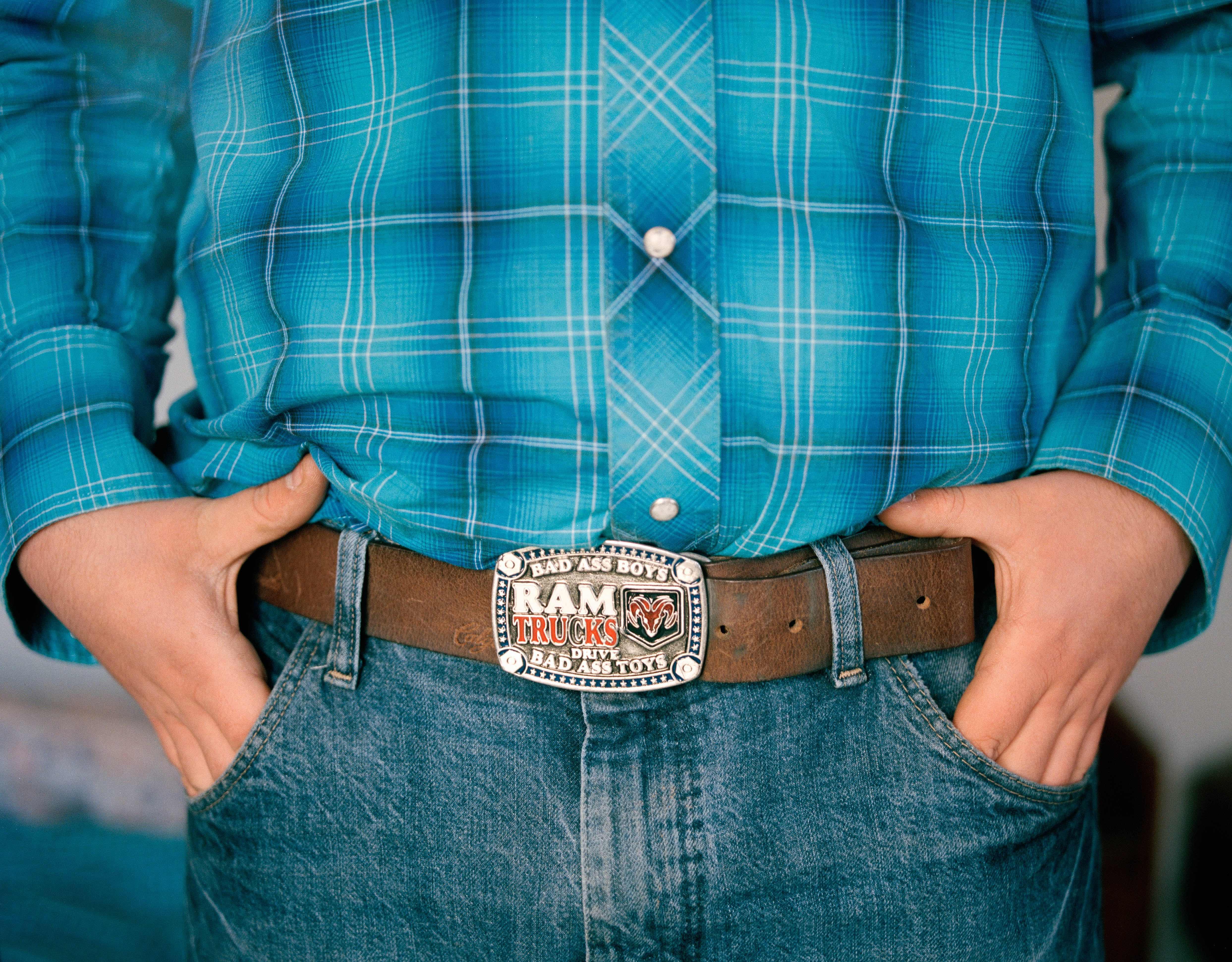 Western rider Matthew Faircroft-Robert's belt