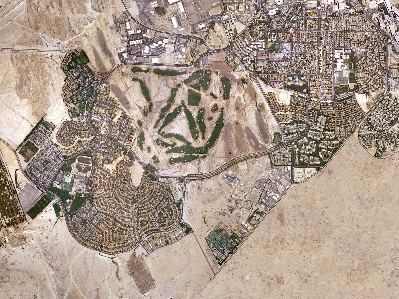 Aerial photo of Dhahran, 2004.